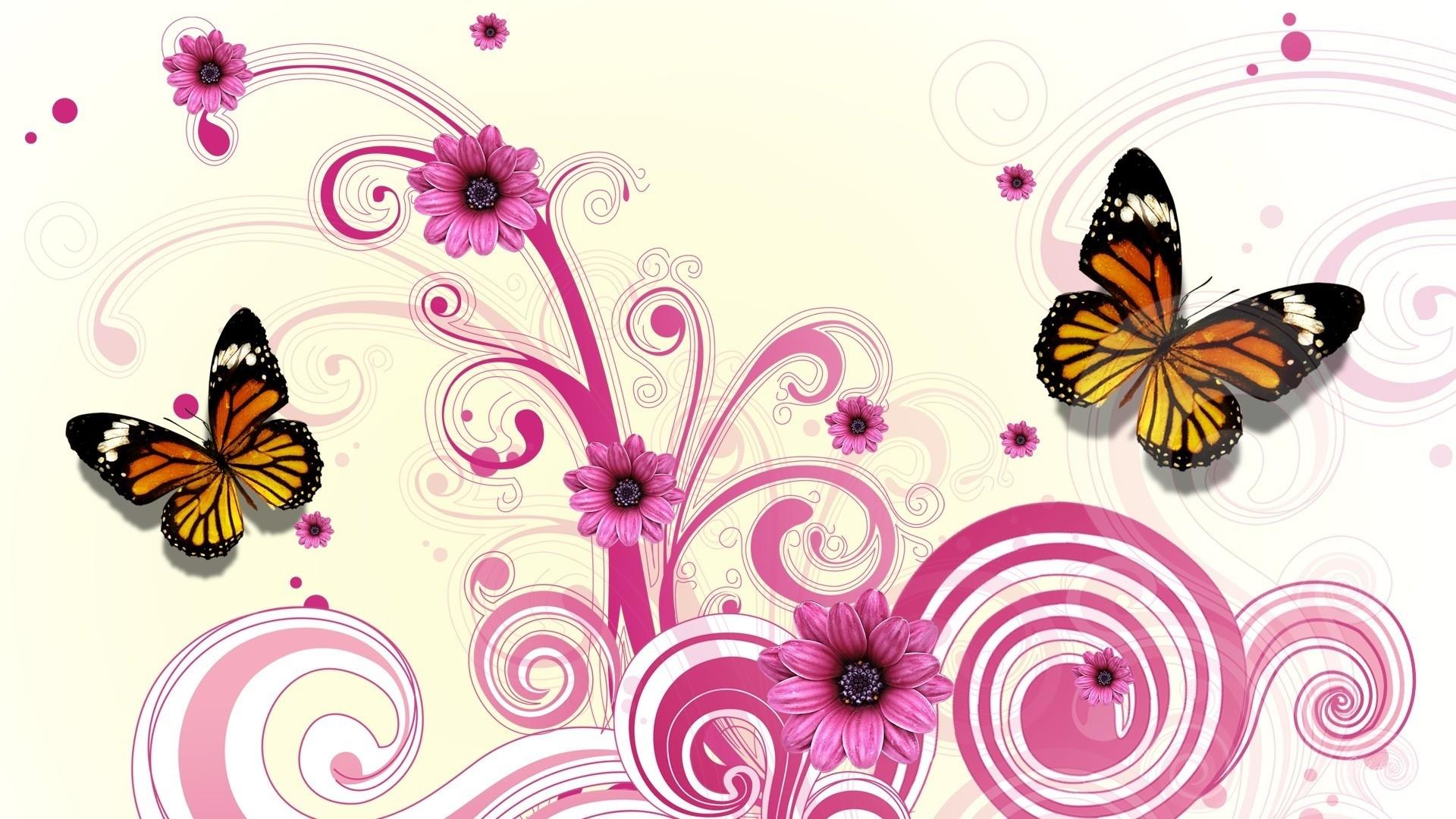 Pink Butterfly wallpaper photo hd
