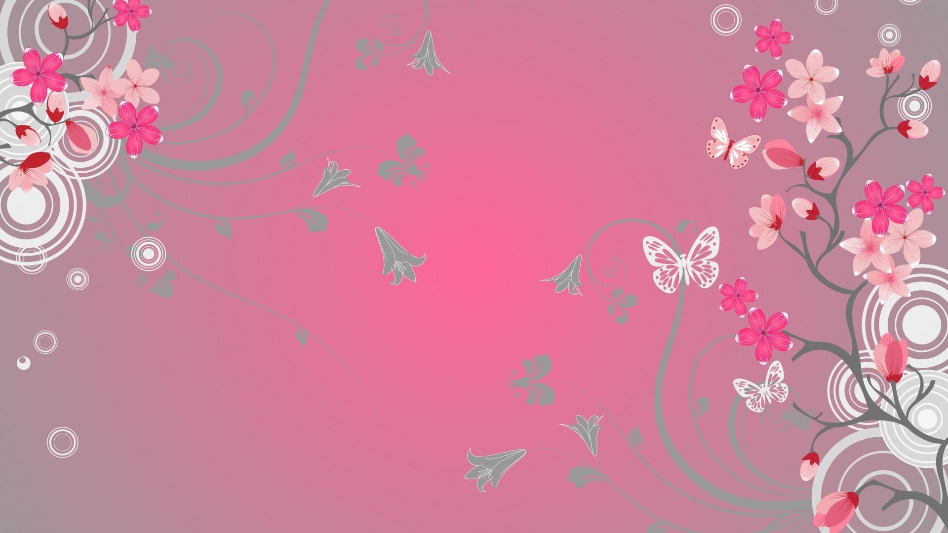 Pink Butterfly hd desktop wallpaper
