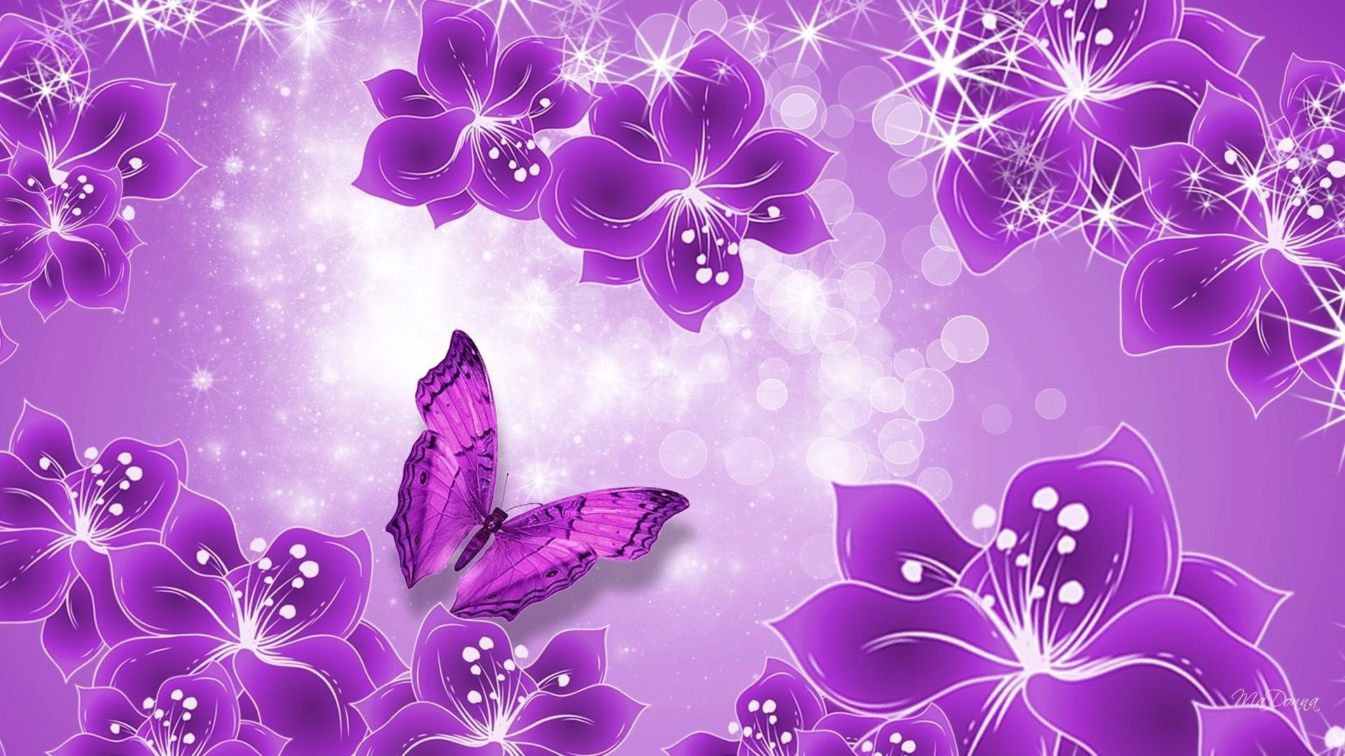 Pink Butterfly Free Wallpaper
