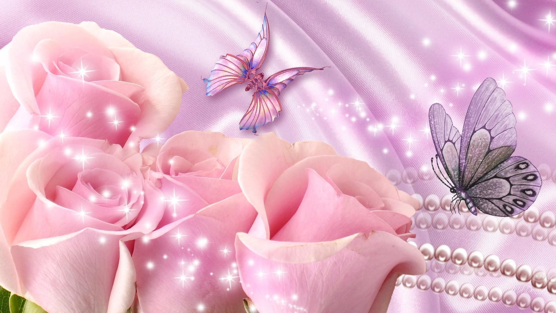 Pink Butterfly Wallpaper image hd