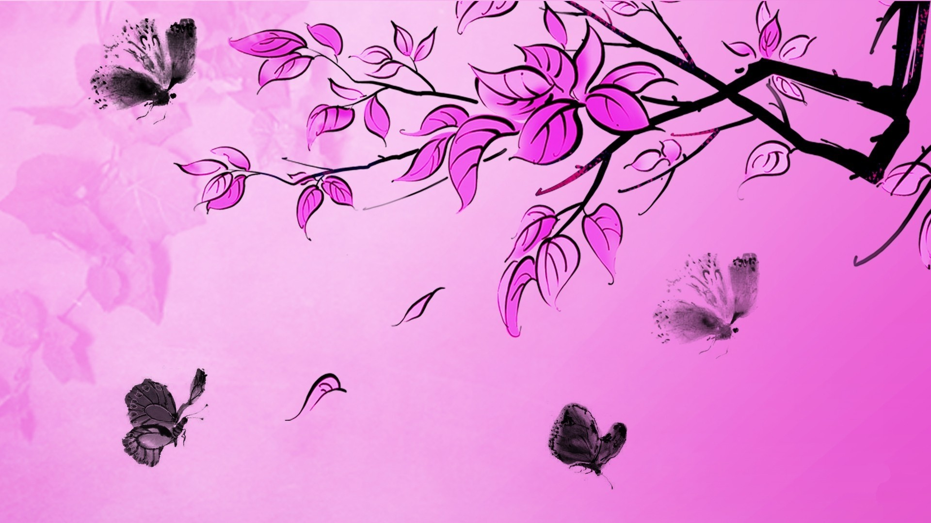Pink Butterfly Wallpaper for pc