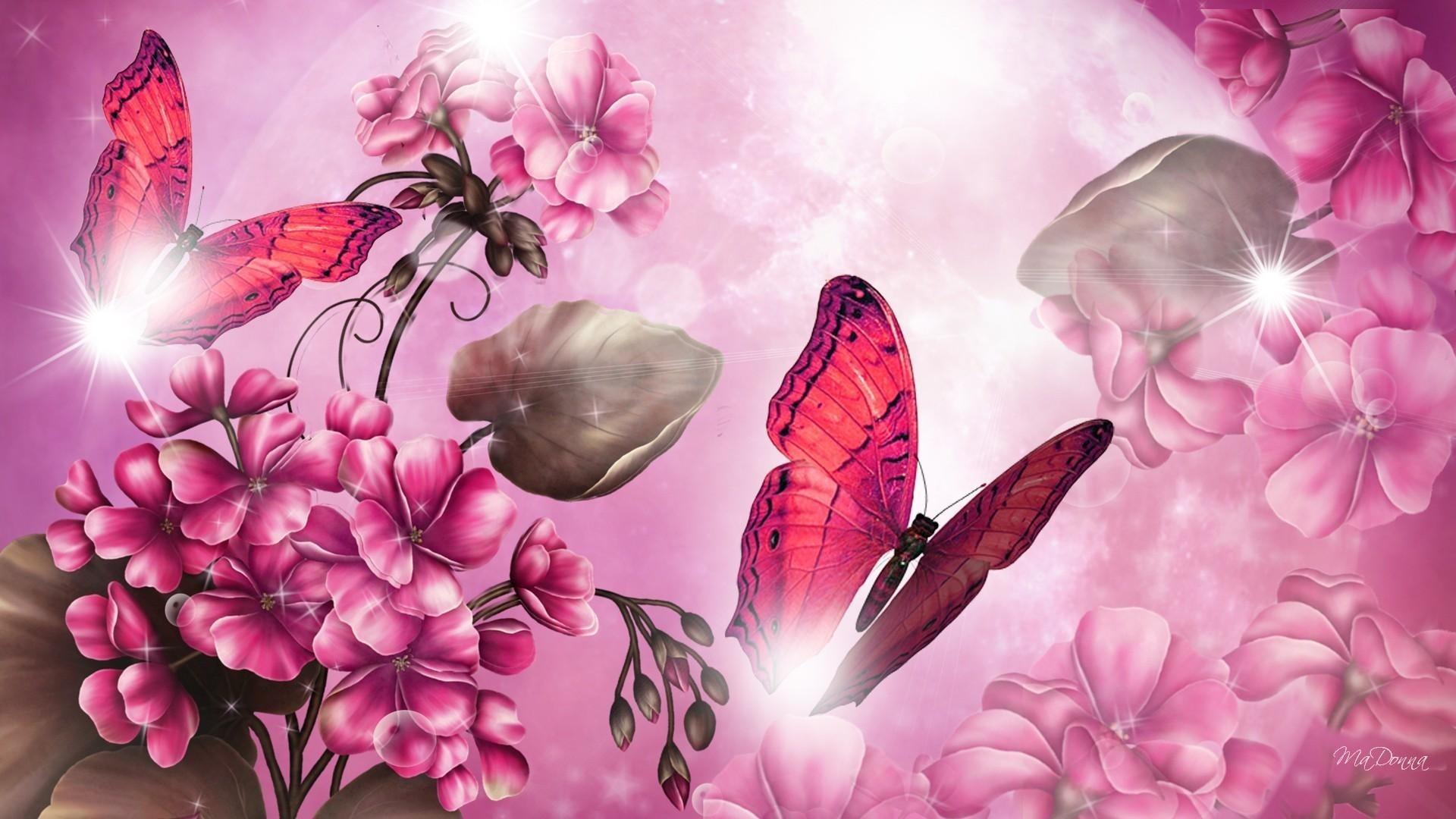 Pink Butterfly Wallpaper theme