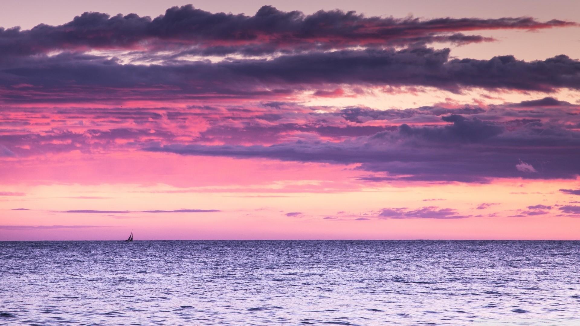 Pink Sunset HD Wallpaper