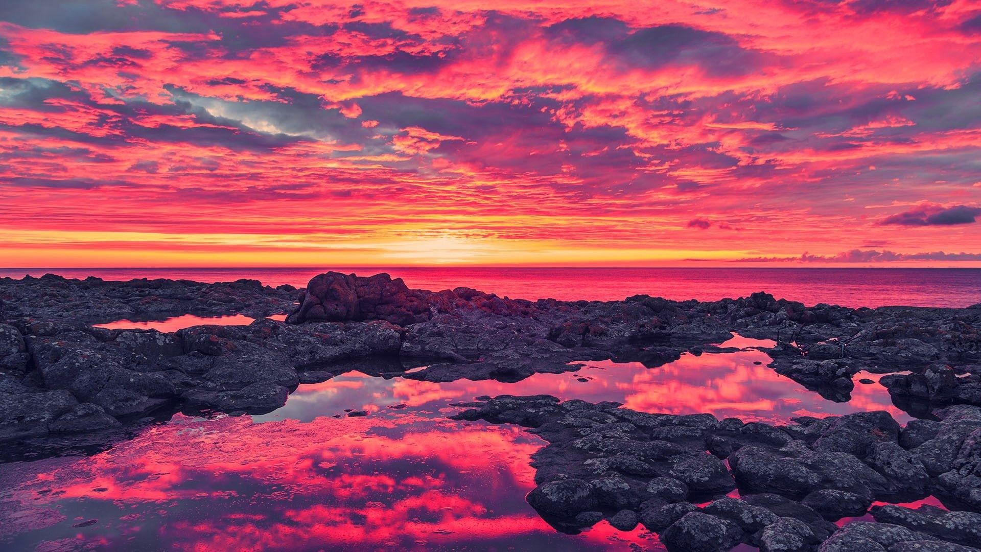 Pink Sunset hd wallpaper download