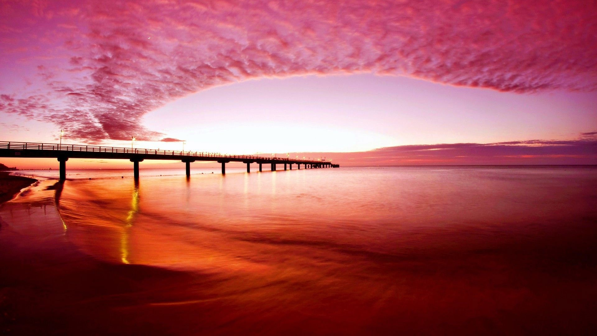 Pink Sunset Wallpaper for pc