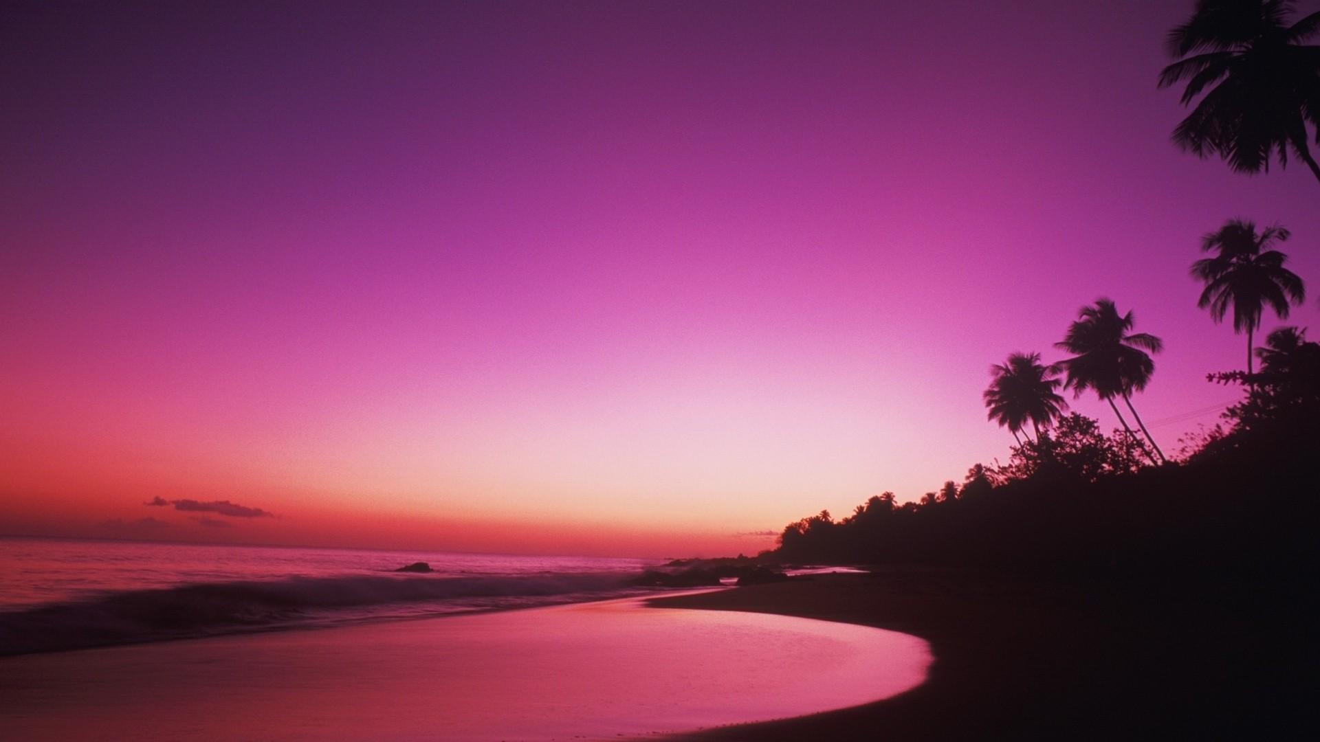 Pink Sunset Wallpaper theme