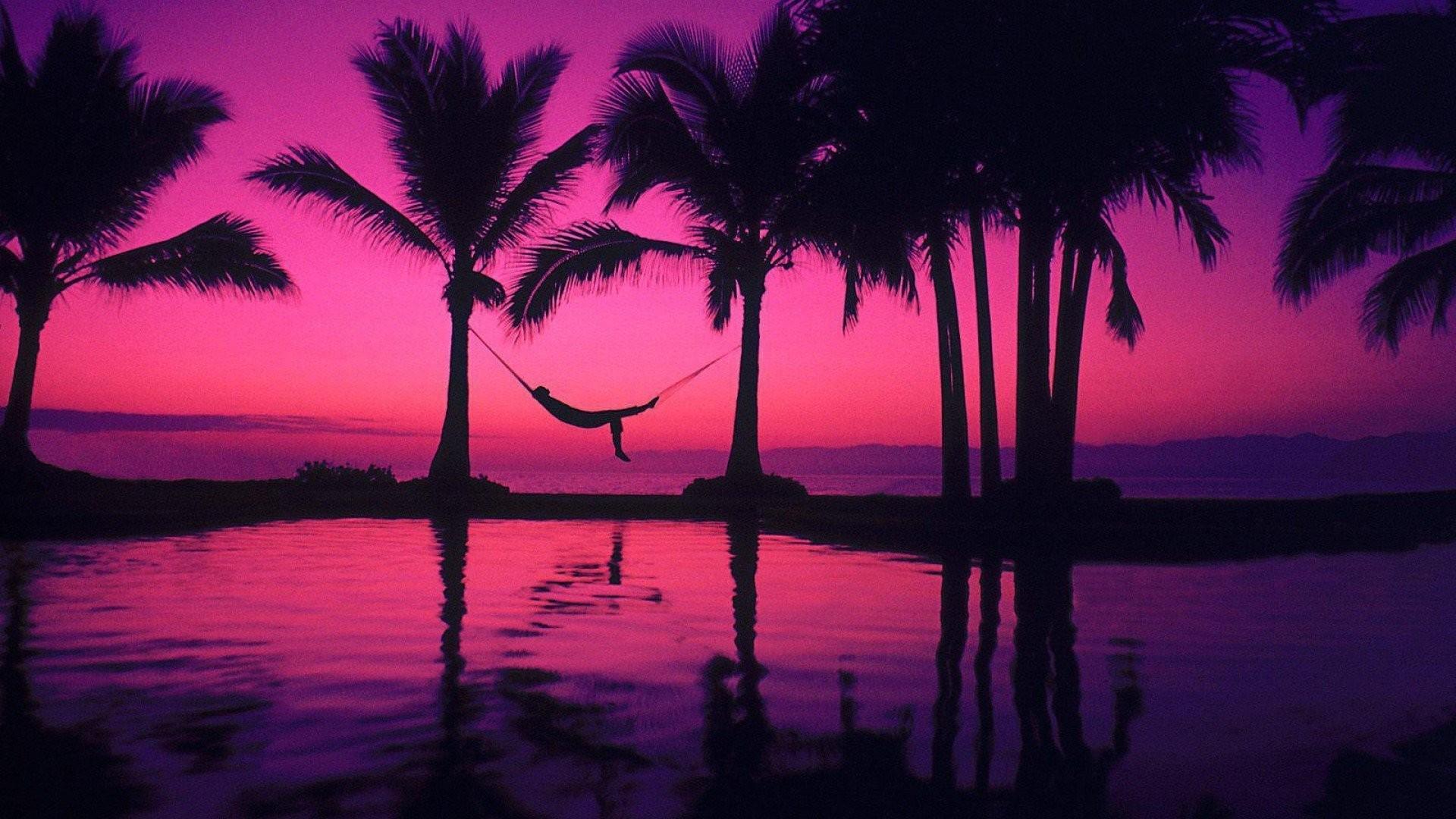 Pink Sunset Wallpaper image hd