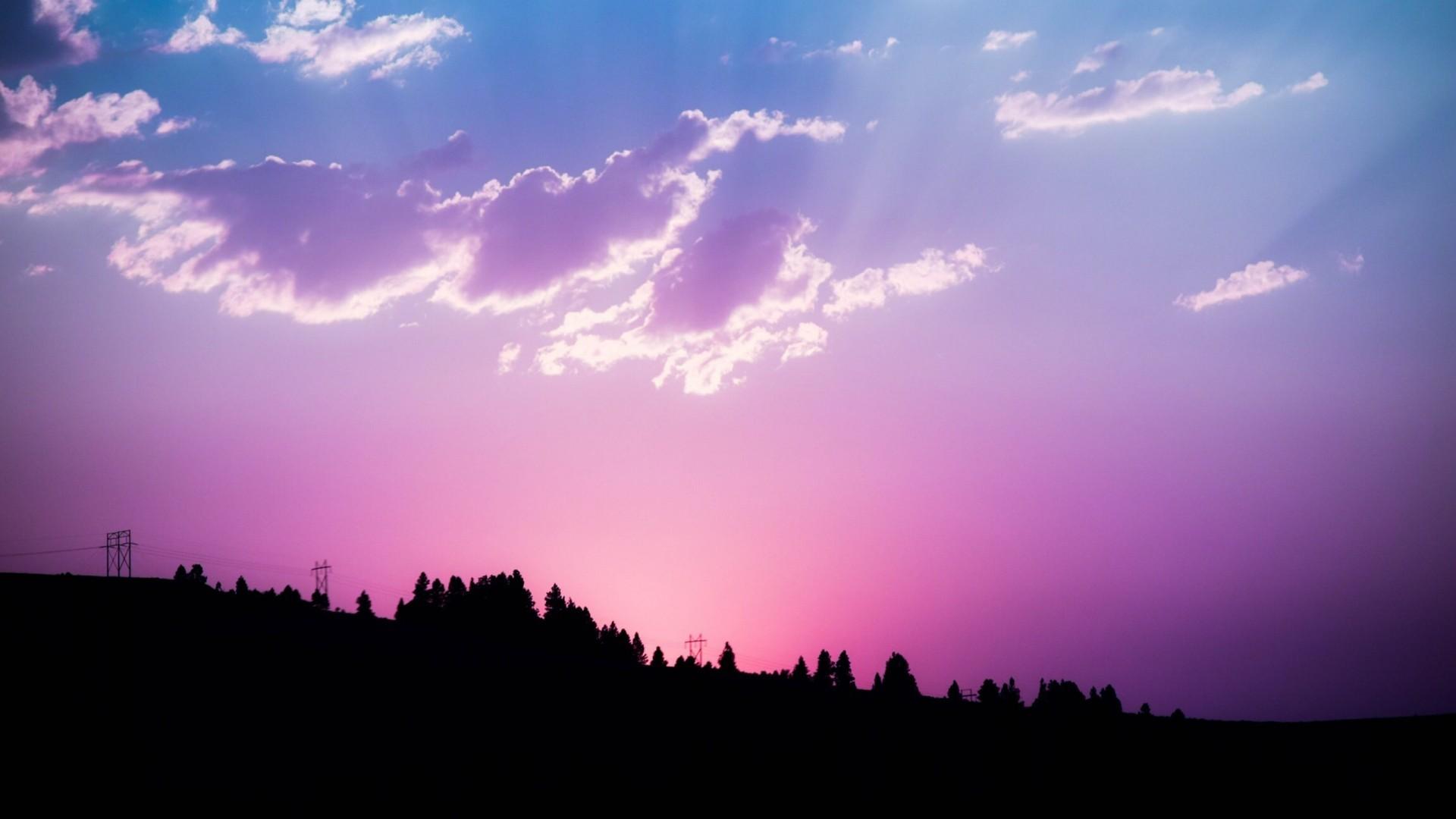 Pink Sunset Free Wallpaper