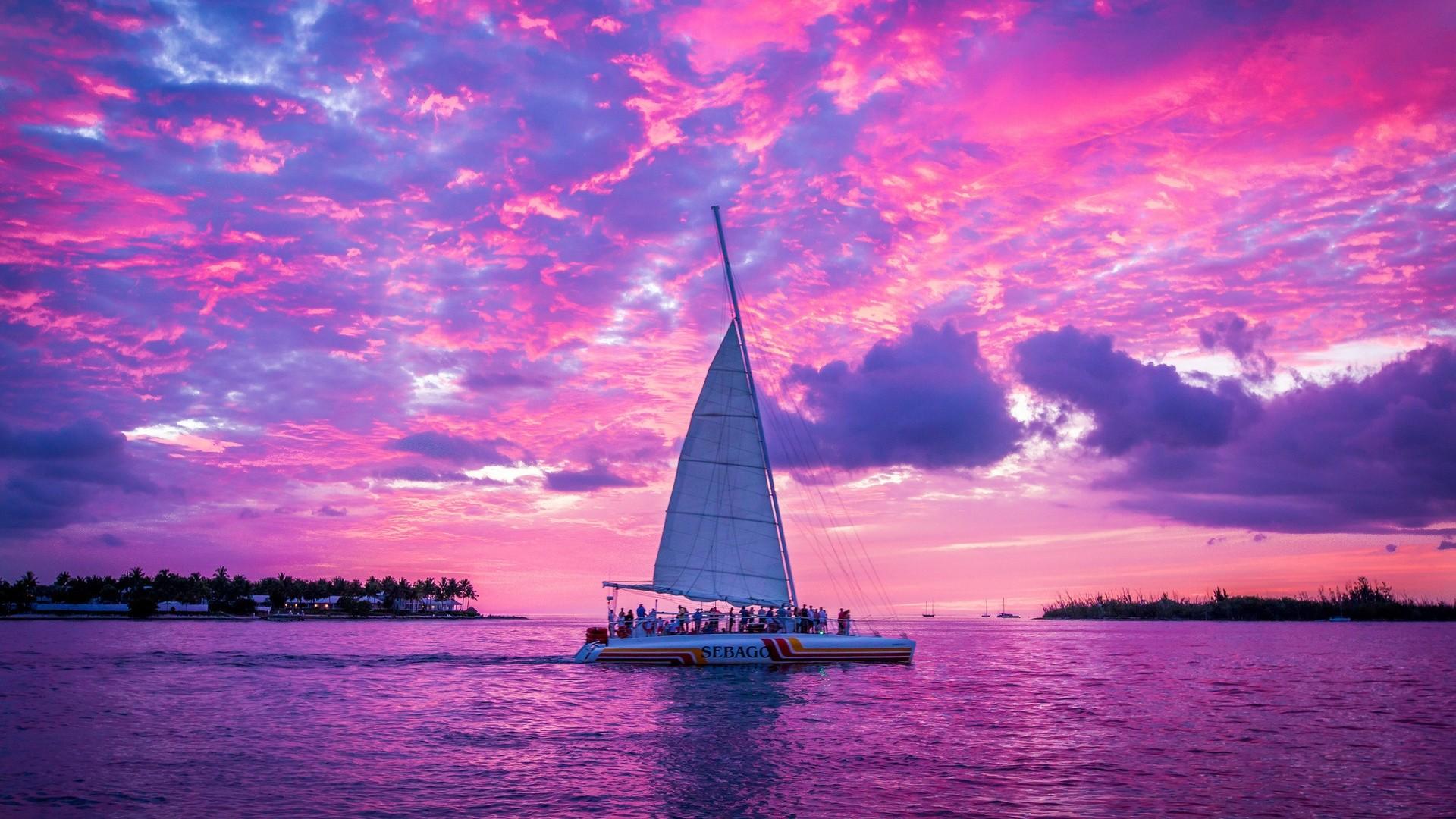 Pink Sunset High Quality