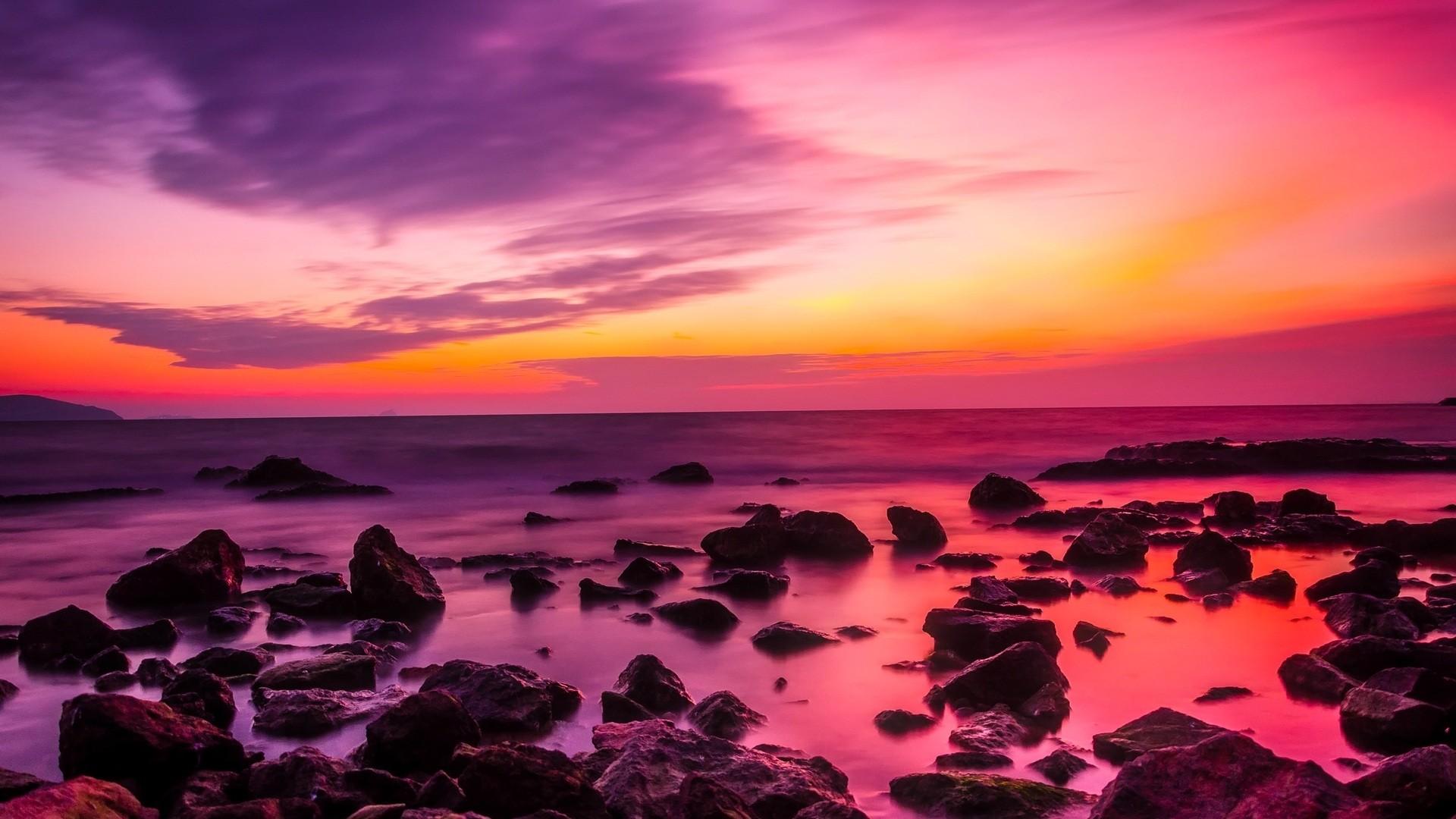 Pink Sunset Download Wallpaper