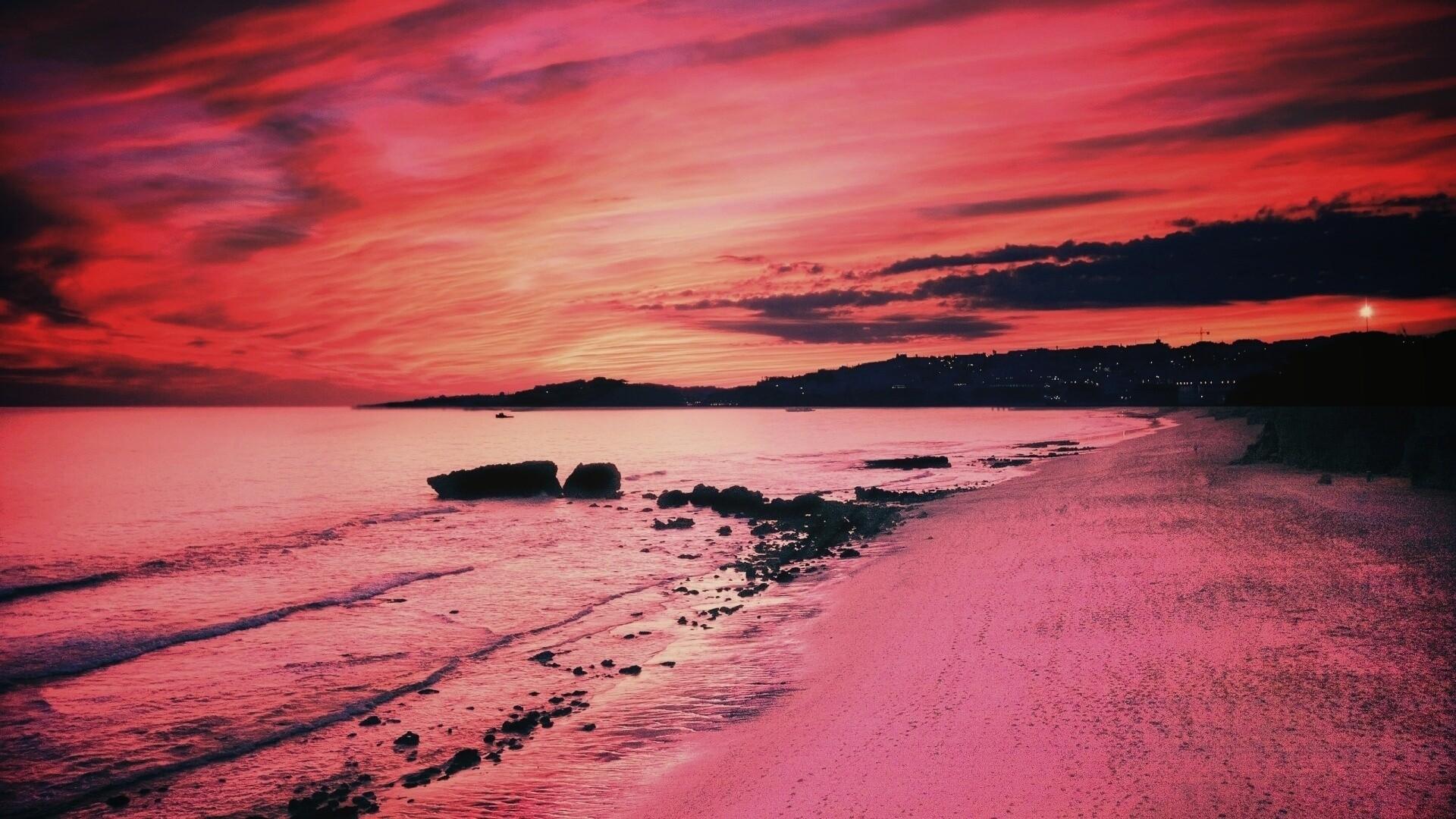 Pink Sunset PC Wallpaper