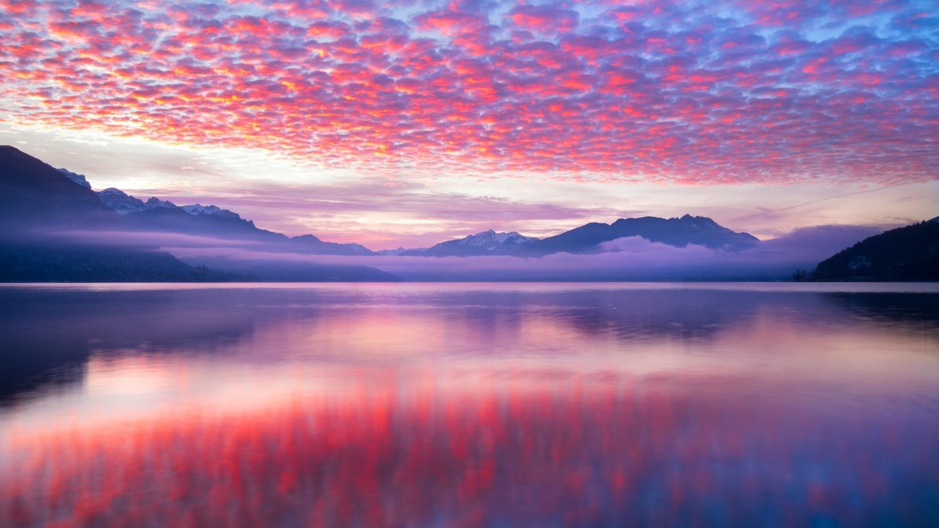 Pink Sunset Desktop Wallpaper