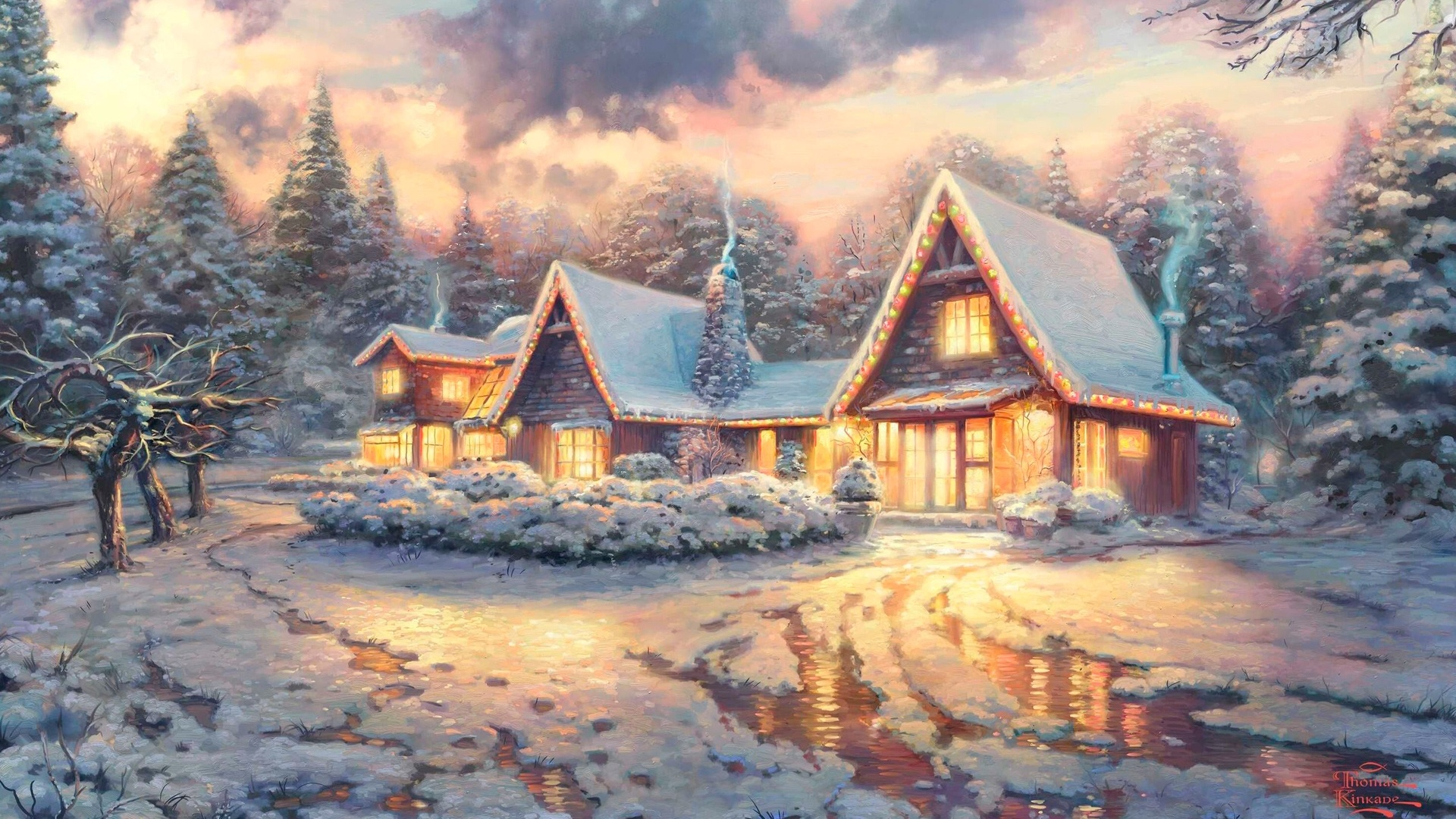 Winter New Year's Evening Picture
