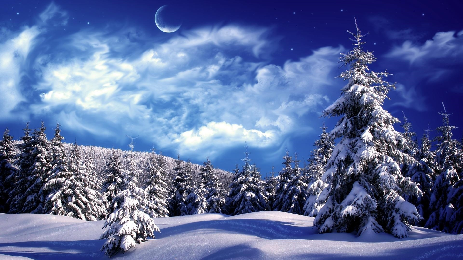 Winter New Year's Evening Background