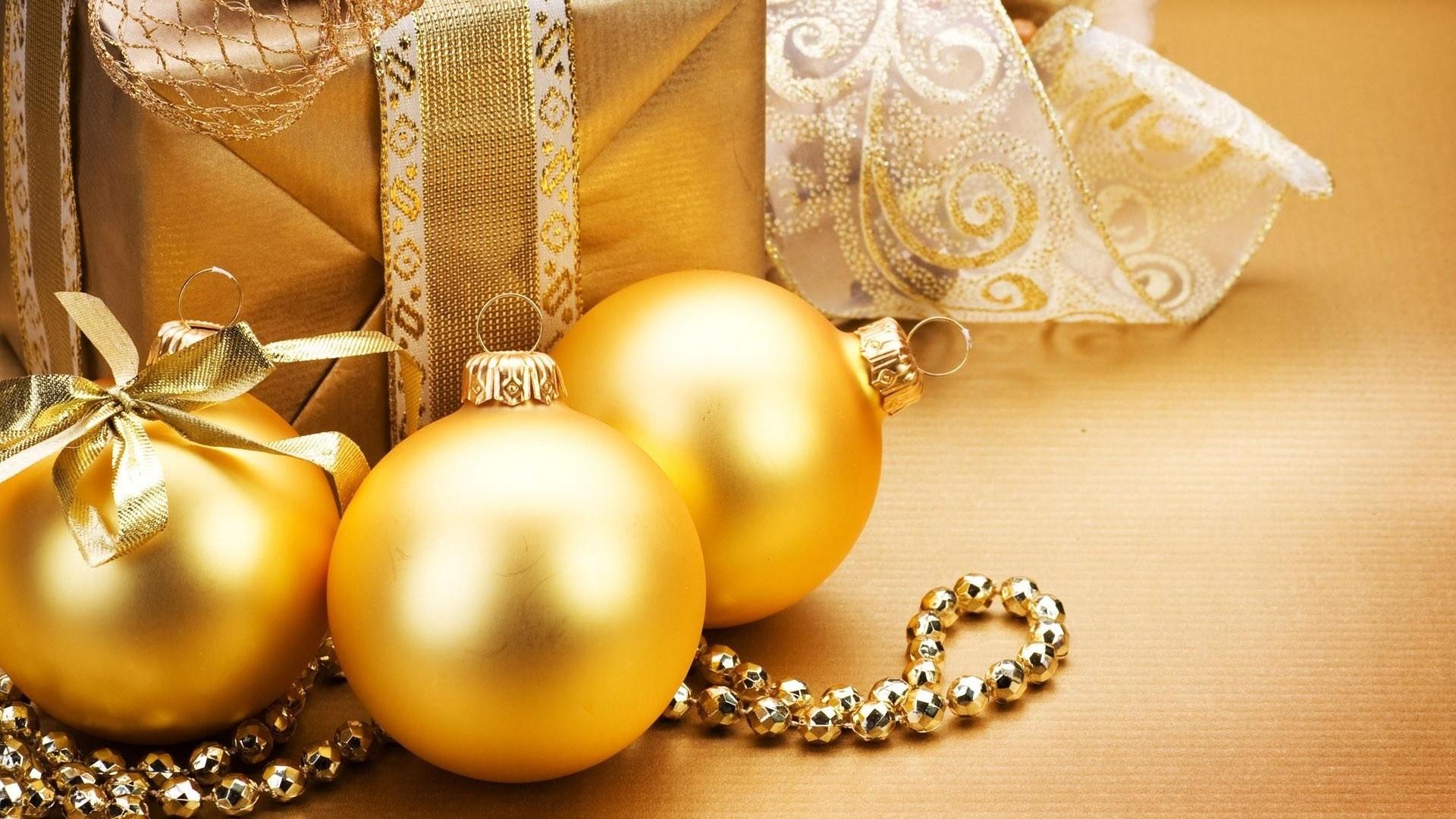 Christmas Gold HD Wallpaper