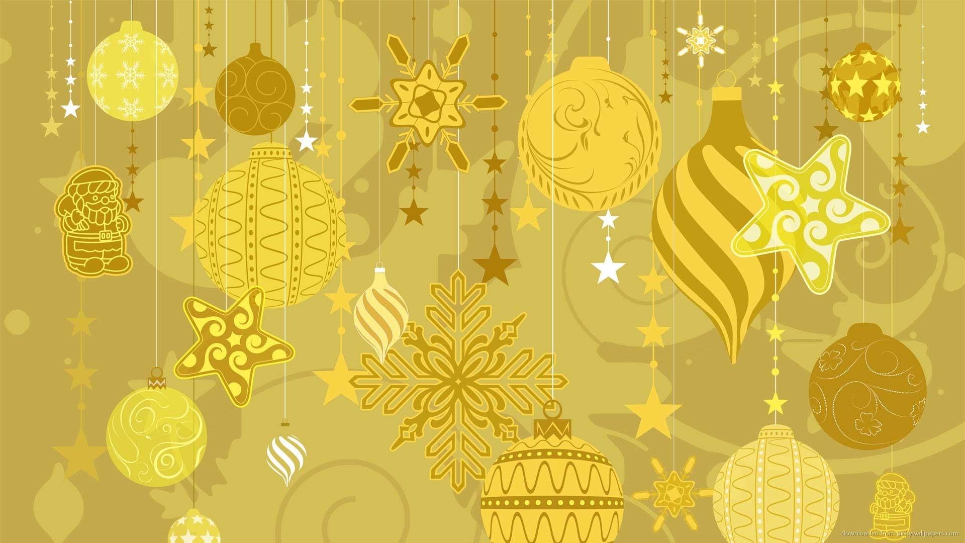 Christmas Gold Wallpaper