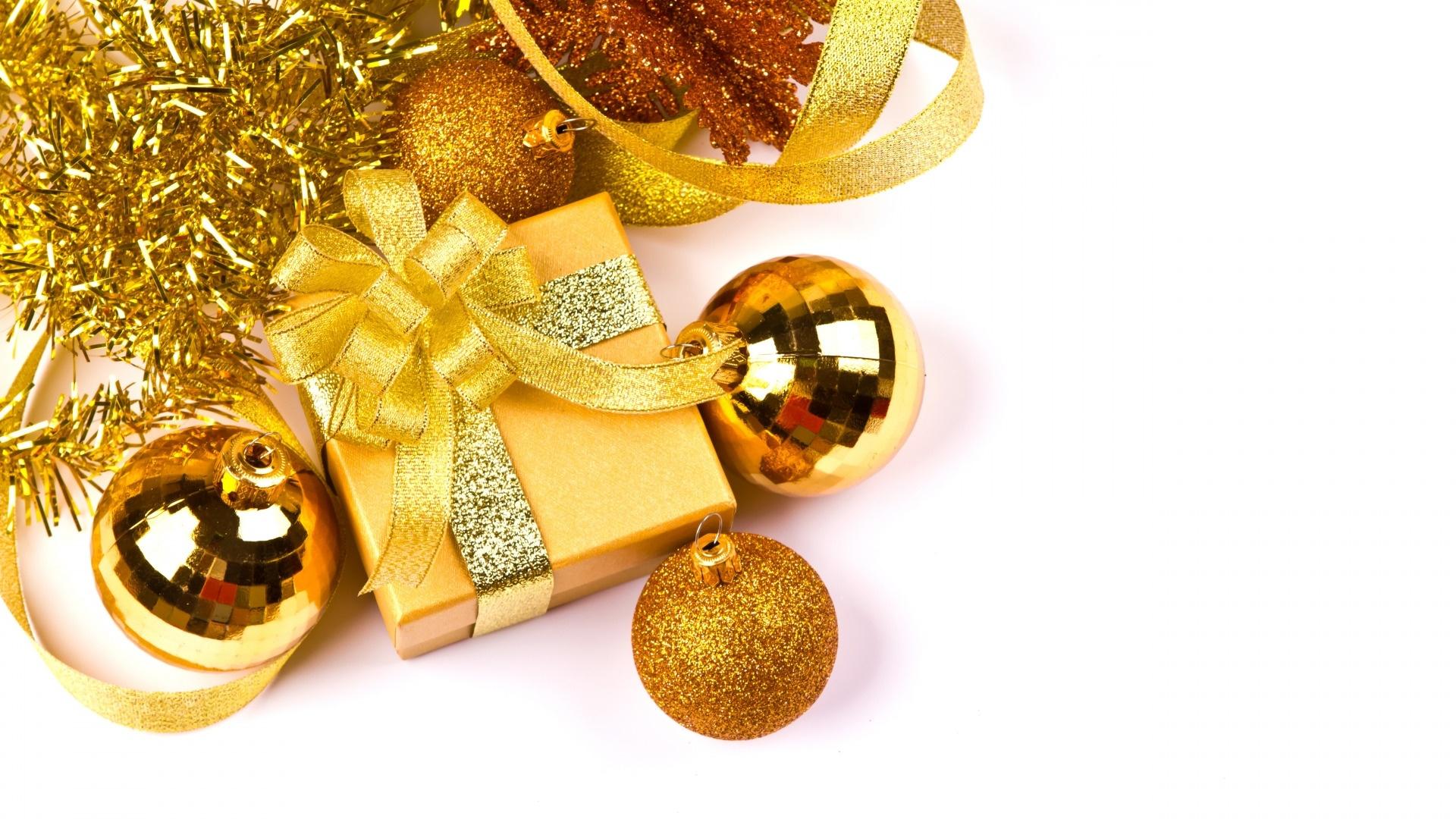 Christmas Gold Desktop Wallpaper
