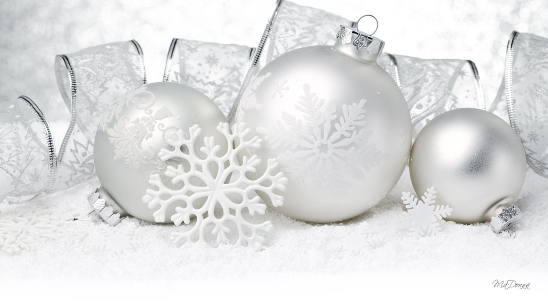 Christmas White HD Wallpaper