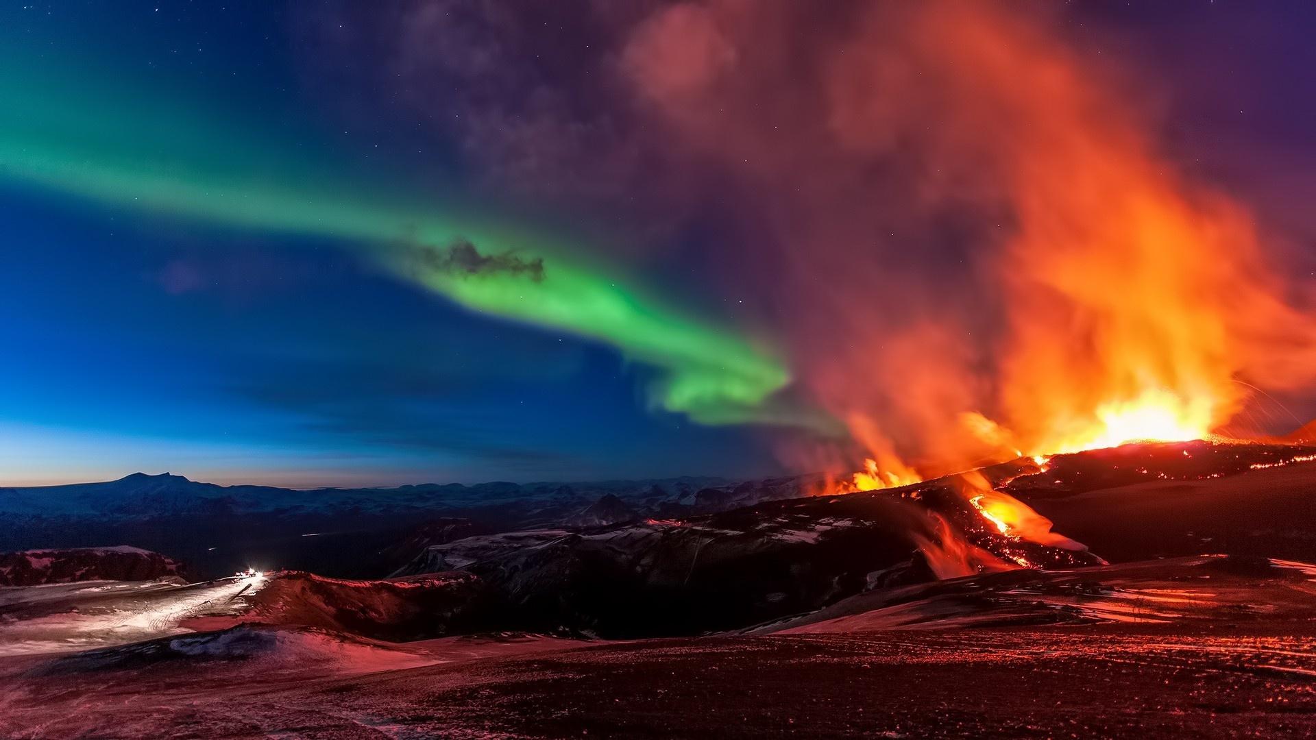Volcano Eruption Desktop Wallpaper