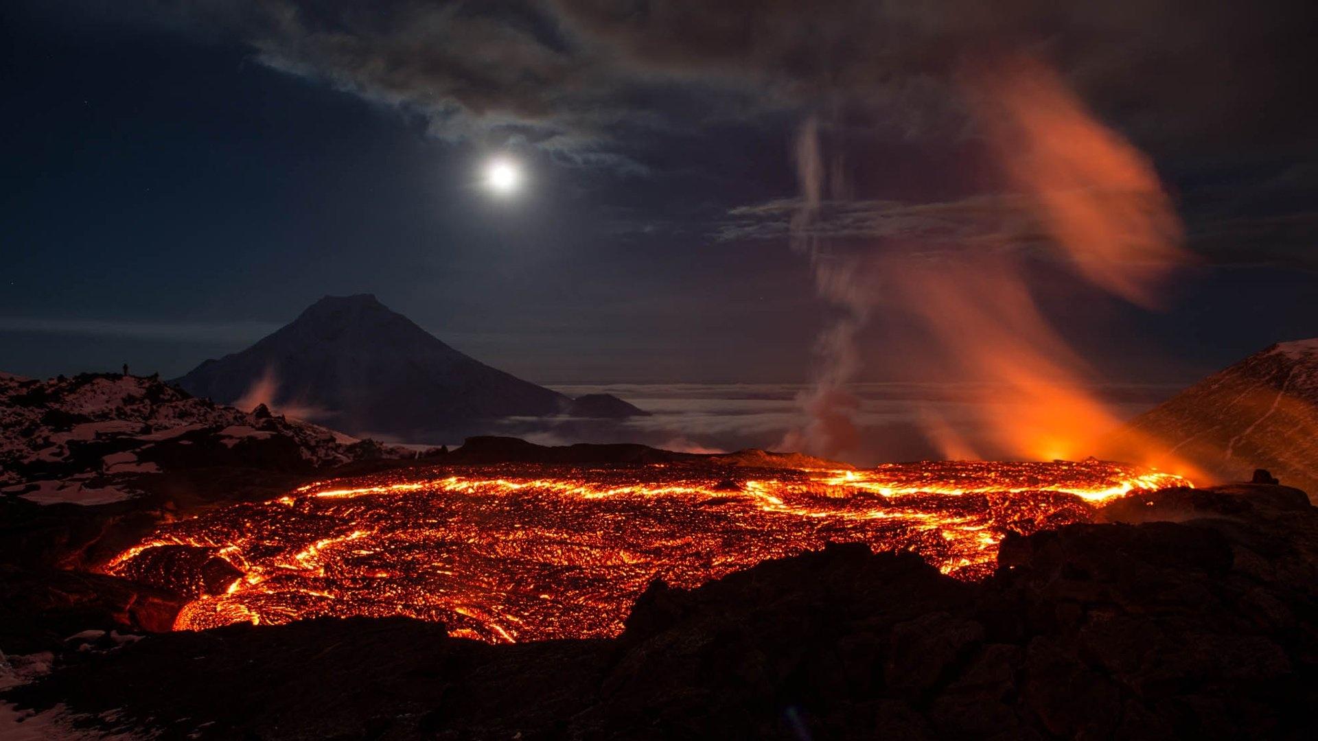 Volcano Eruption Background