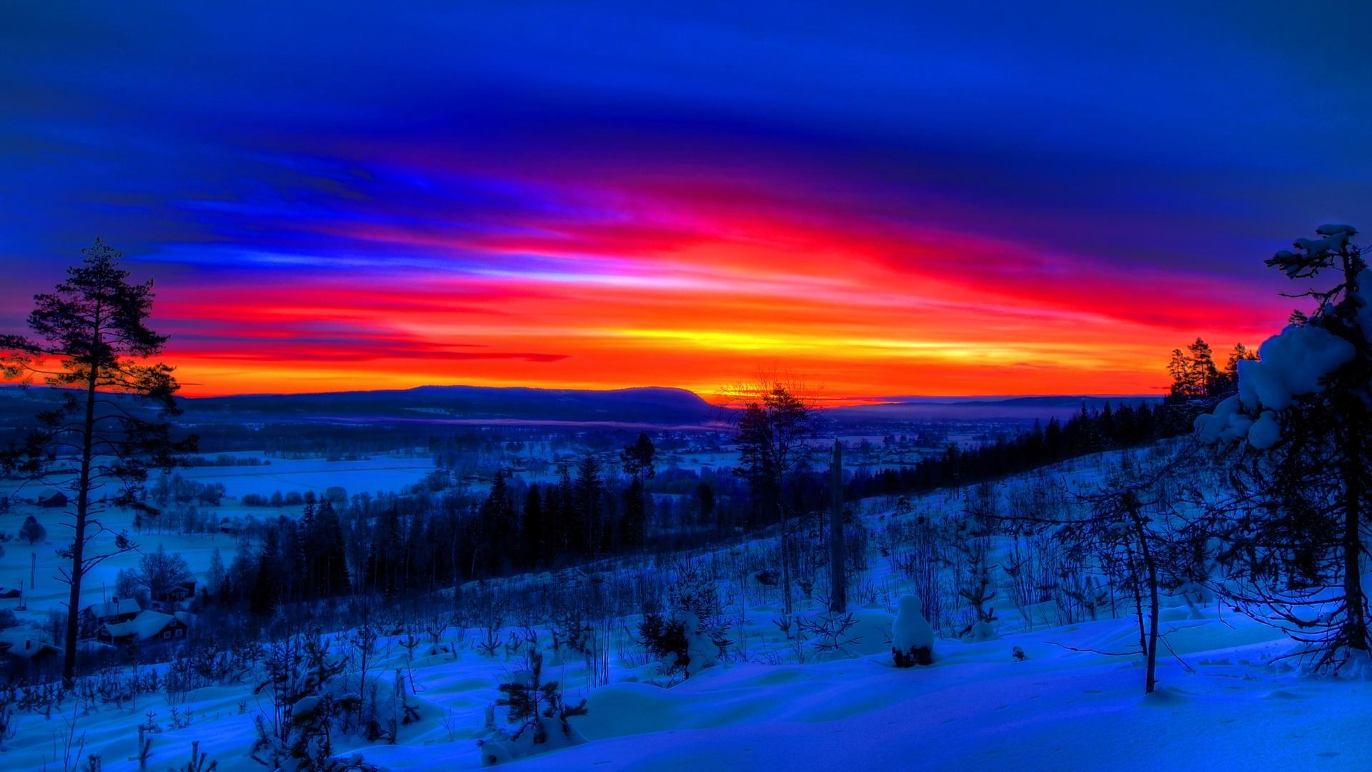 Winter Sunset Image
