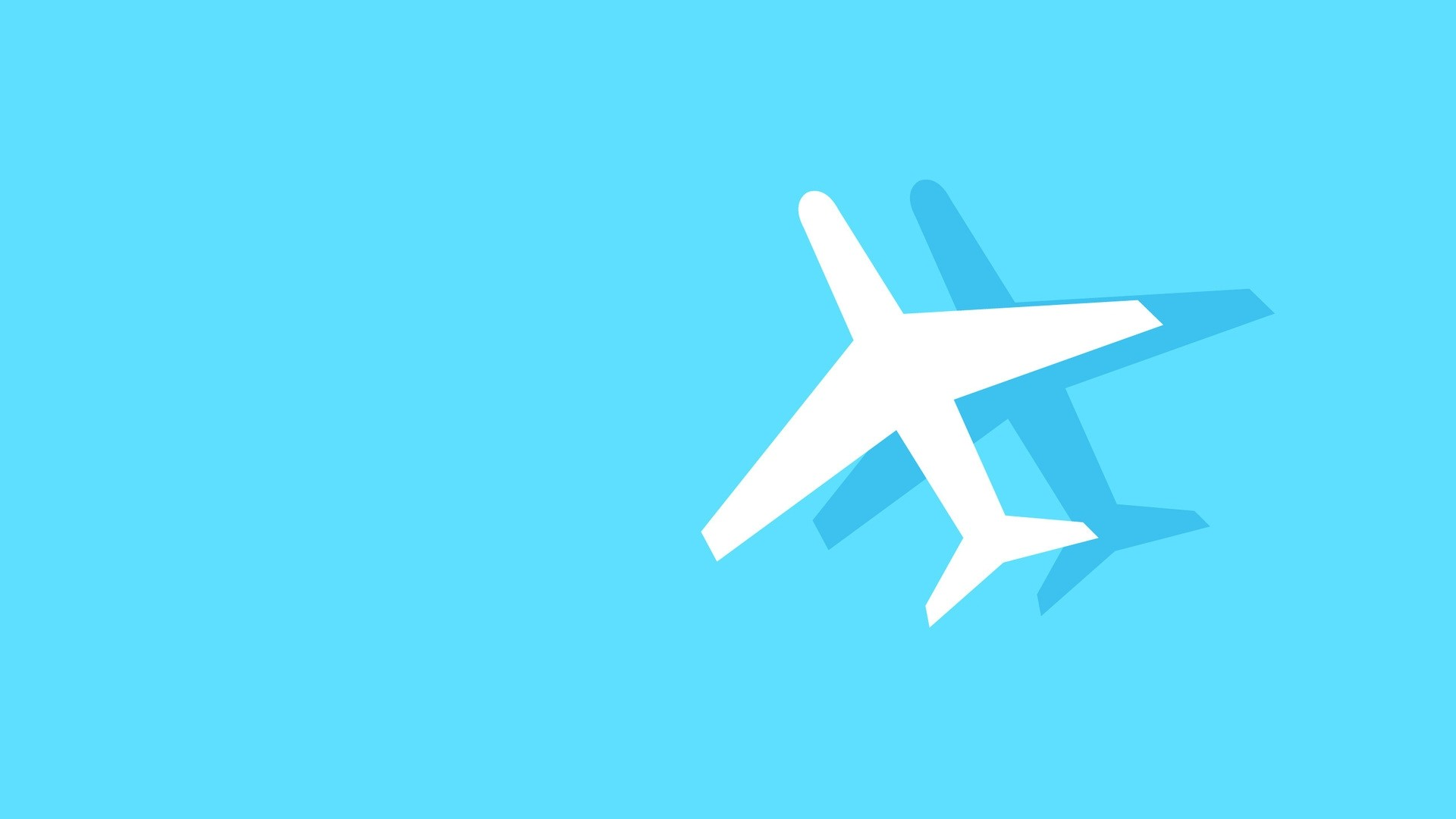 Airplane Minimalist wallpaper photo hd