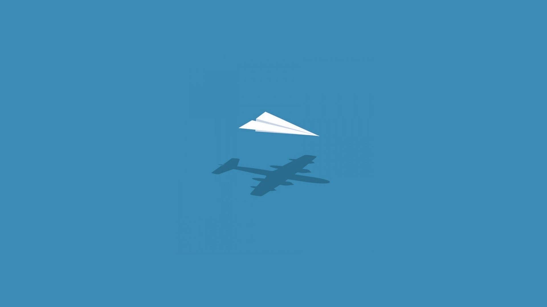 Airplane Minimalist desktop wallpaper hd