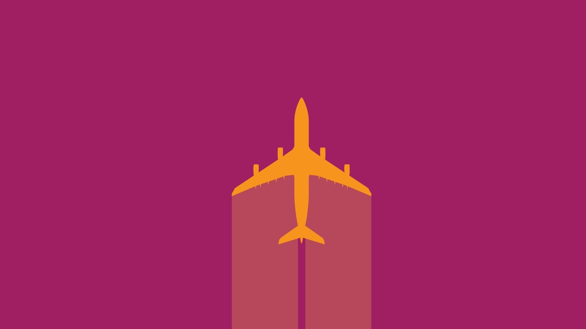 Airplane Minimalist Wallpaper