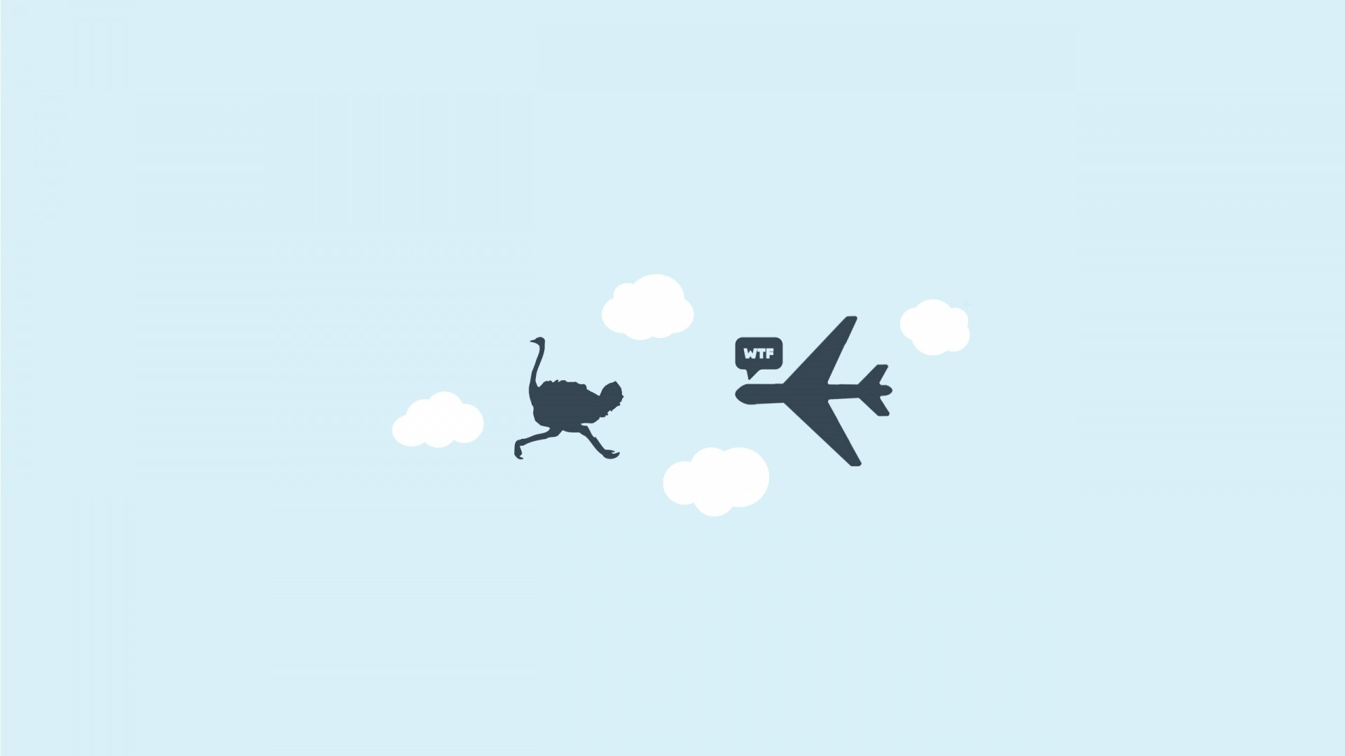 Airplane Minimalist Wallpaper theme