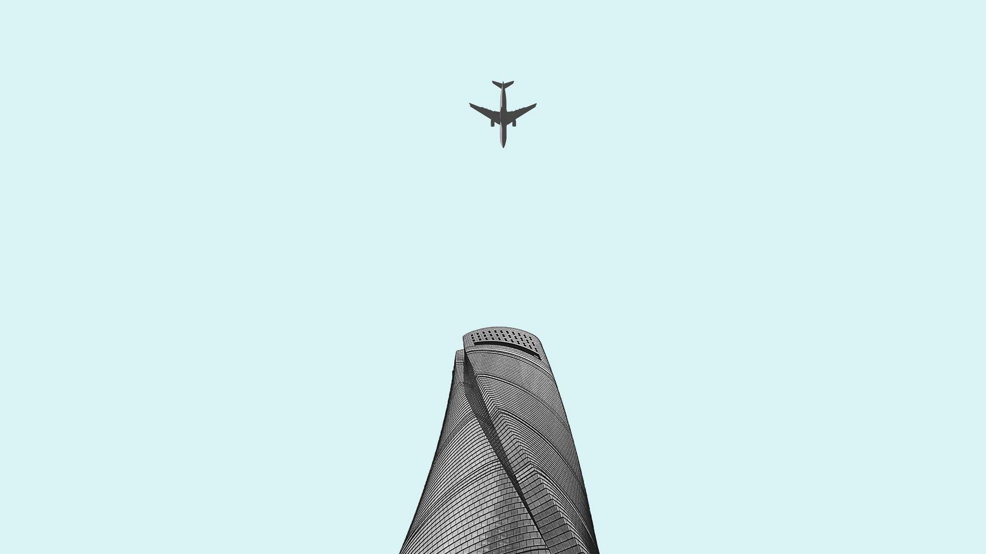 Airplane Minimalist Pic