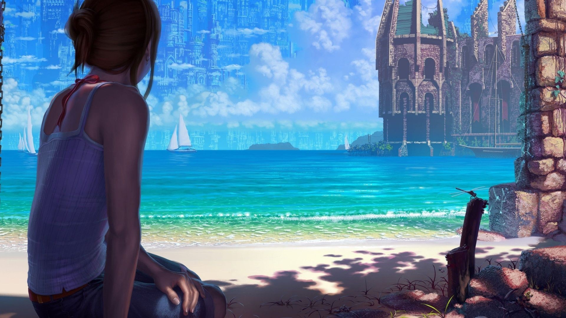 Anime Beach Image