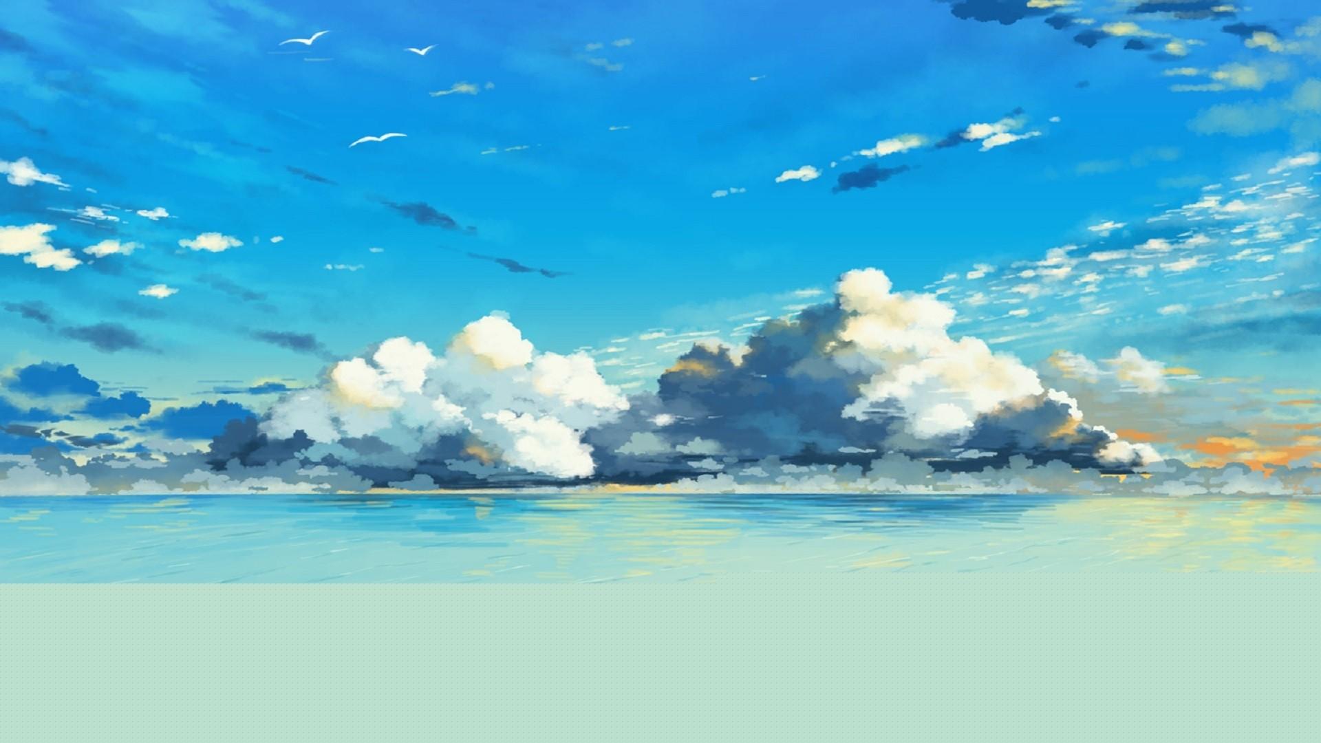 Anime Beach wallpaper for desktop