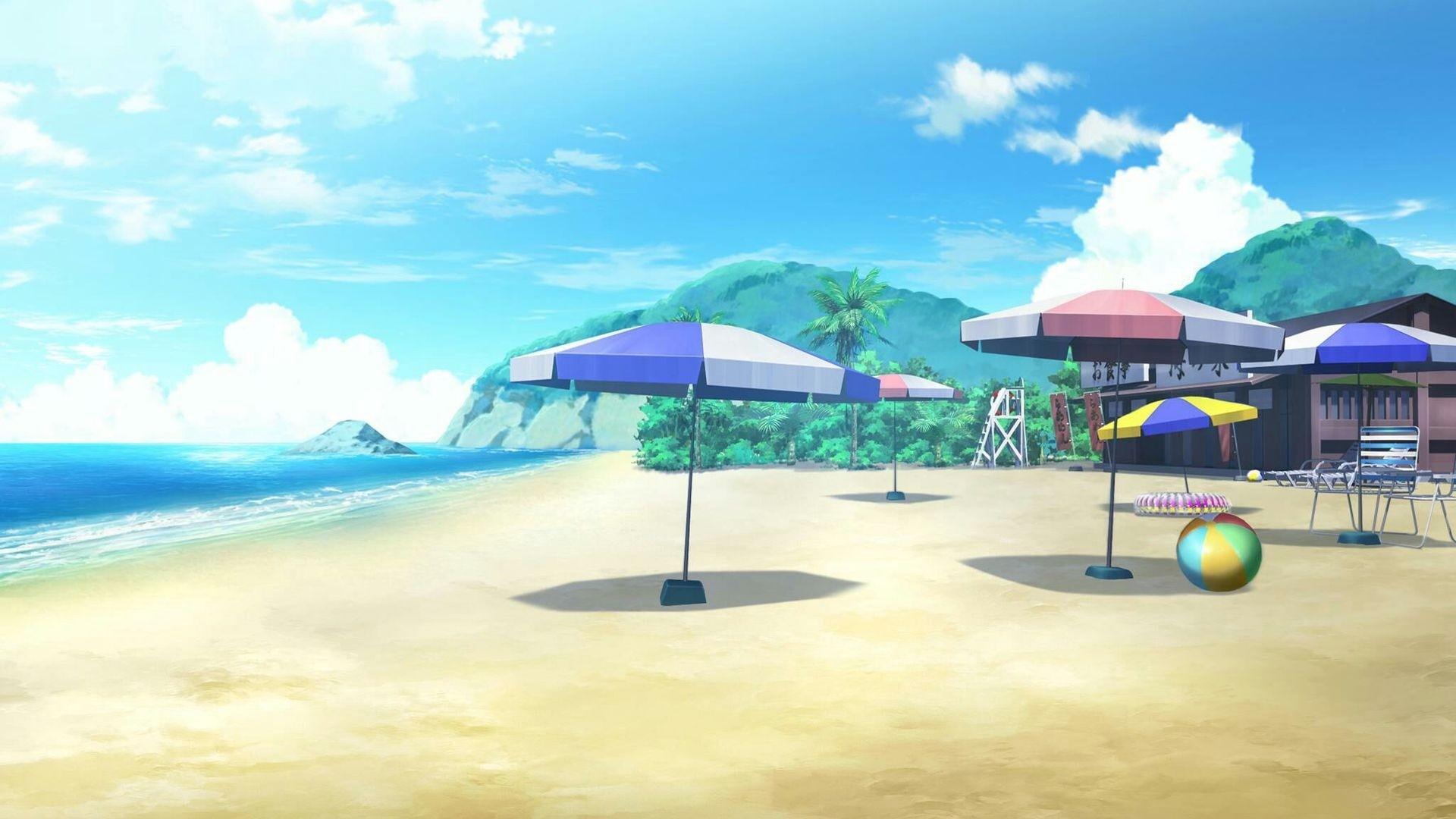 Anime Beach Wallpaper