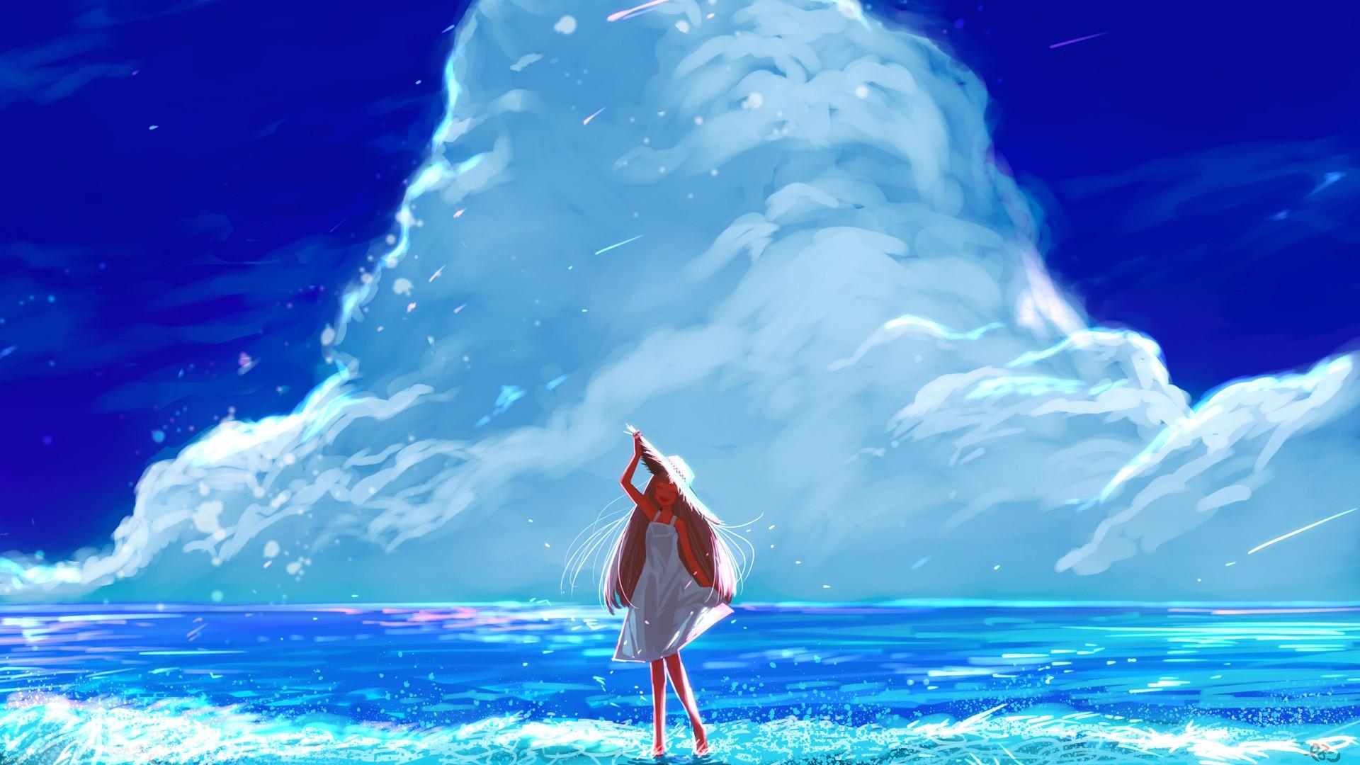 Anime Beach wallpaper photo hd
