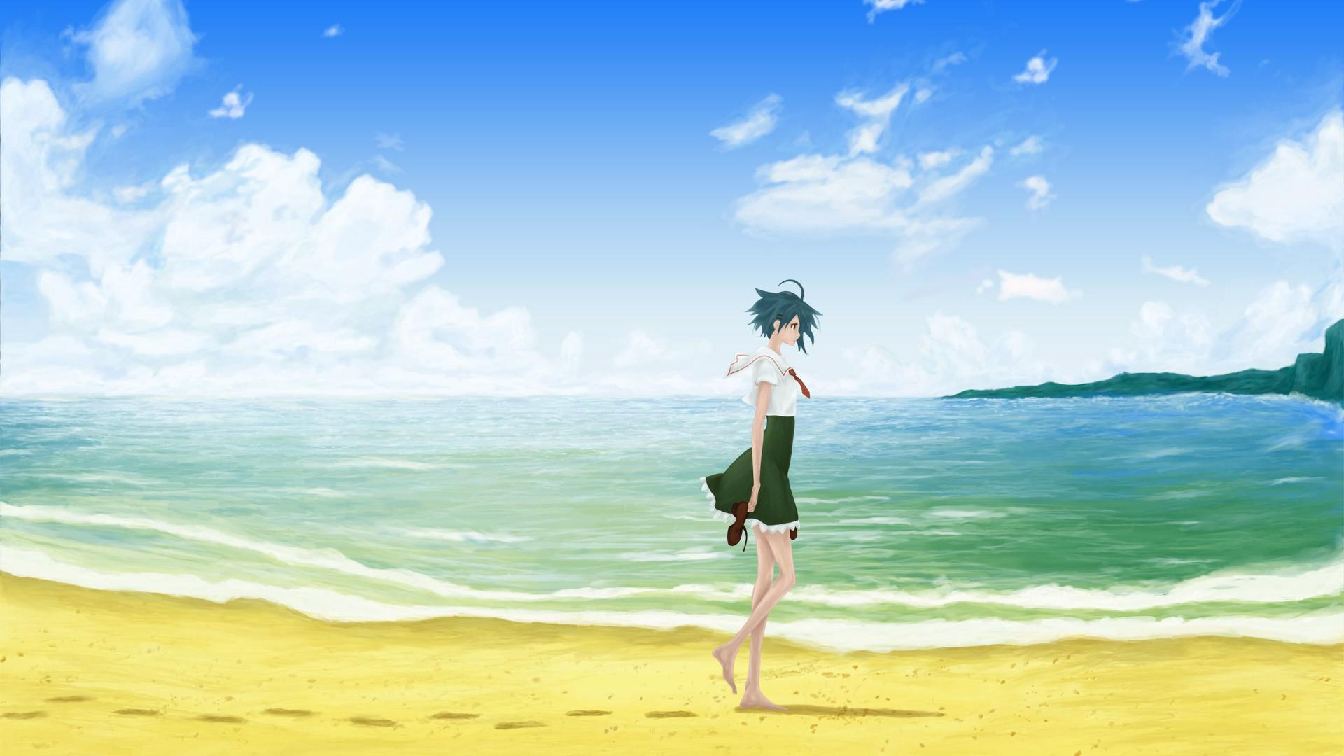 Anime Beach wallpaper for pc