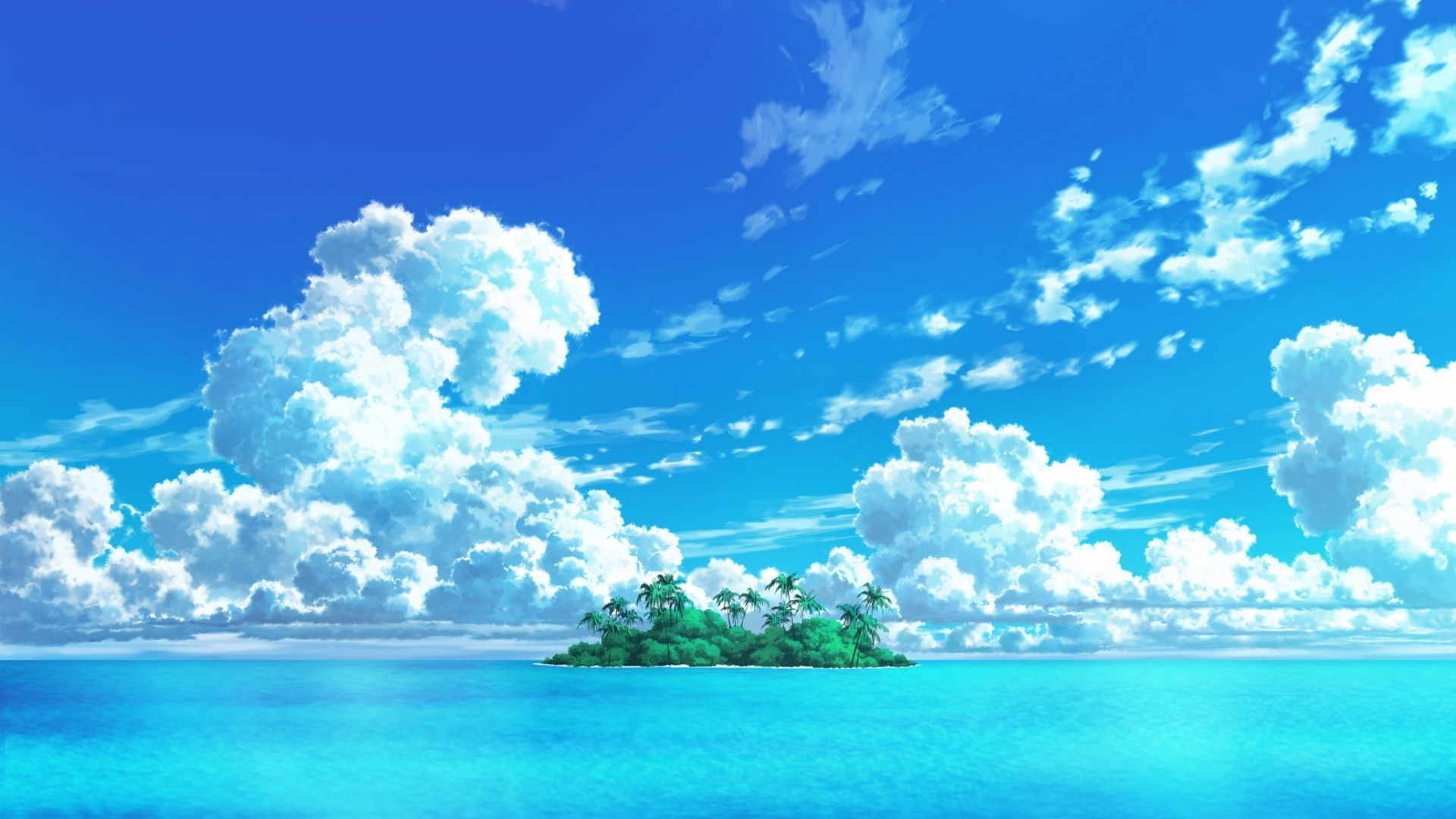Anime Beach Wallpaper theme