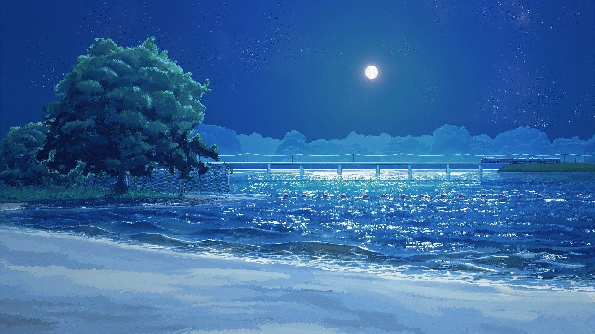 Anime Beach Desktop Wallpaper