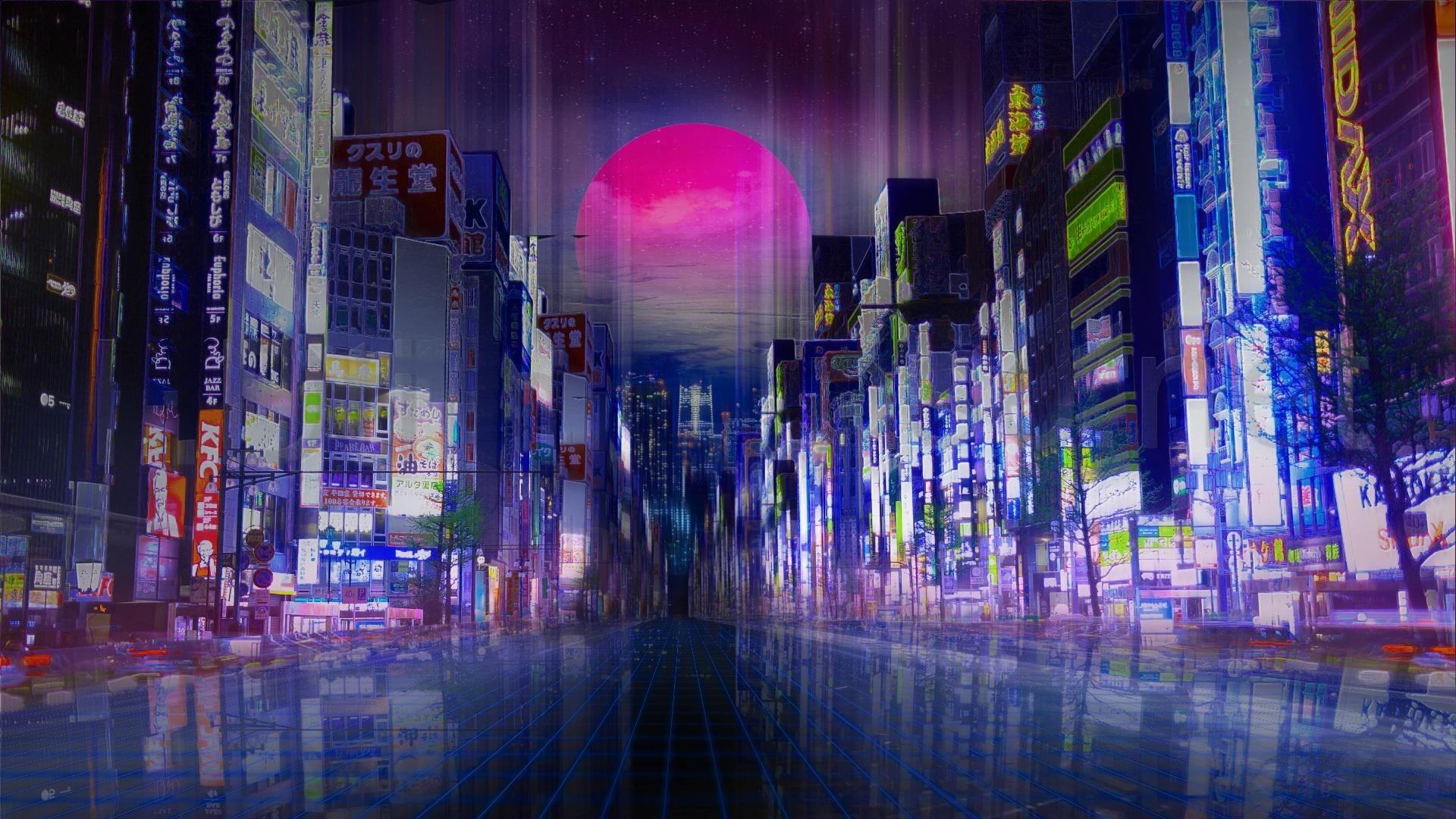 Anime Night Neon Image