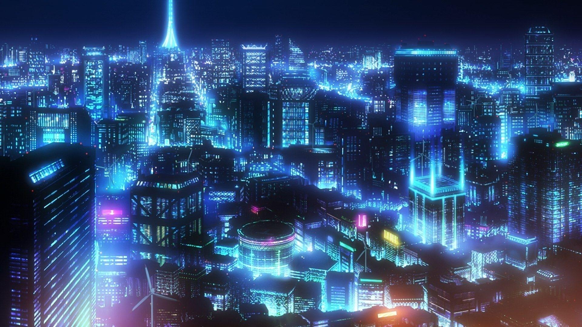 Anime Night Neon wallpaper for computer