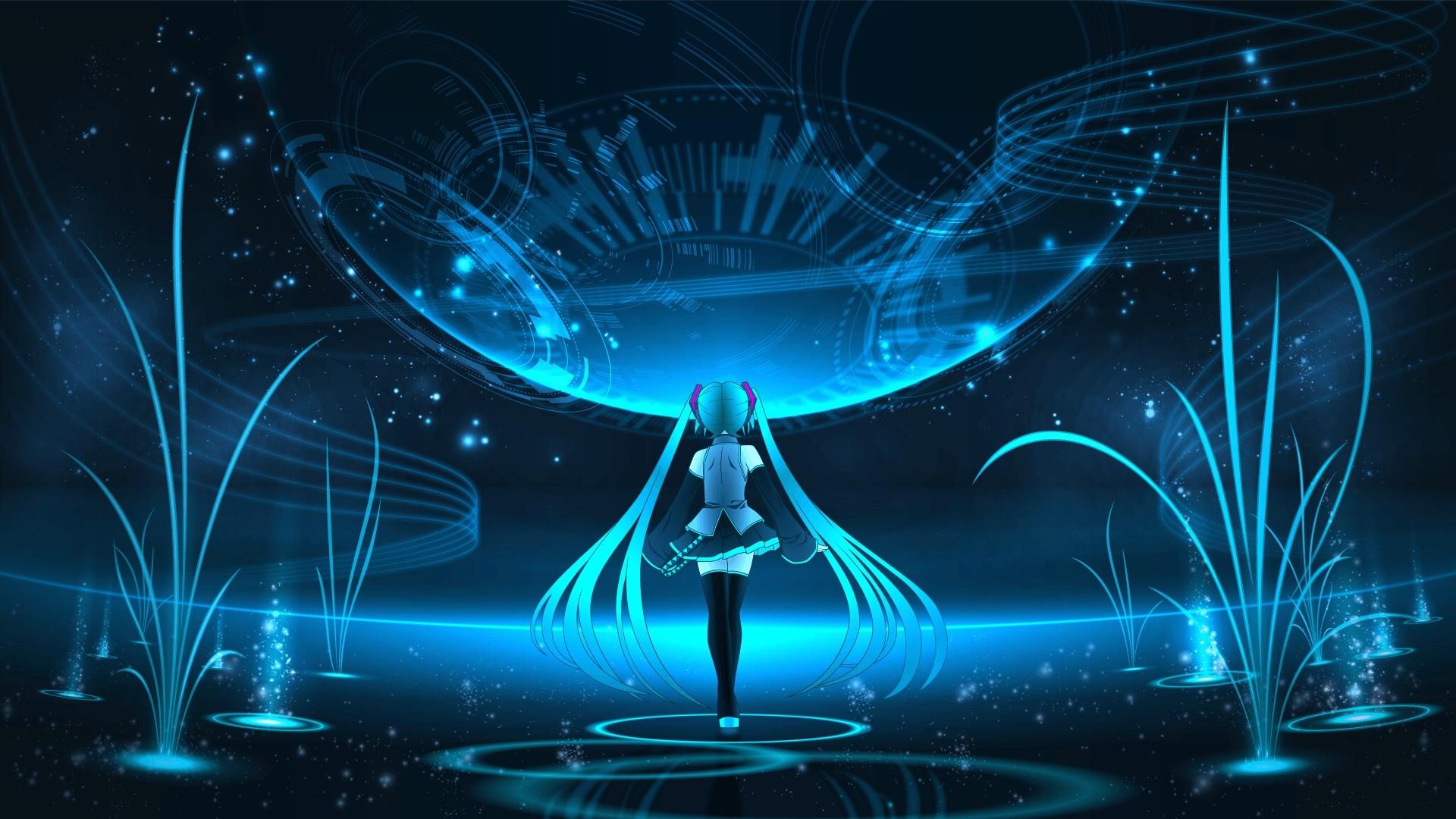 Anime Night Neon Desktop Wallpaper