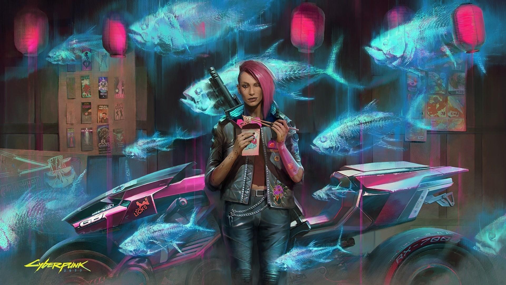 Cyberpunk 2077 Poster wallpaper for computer