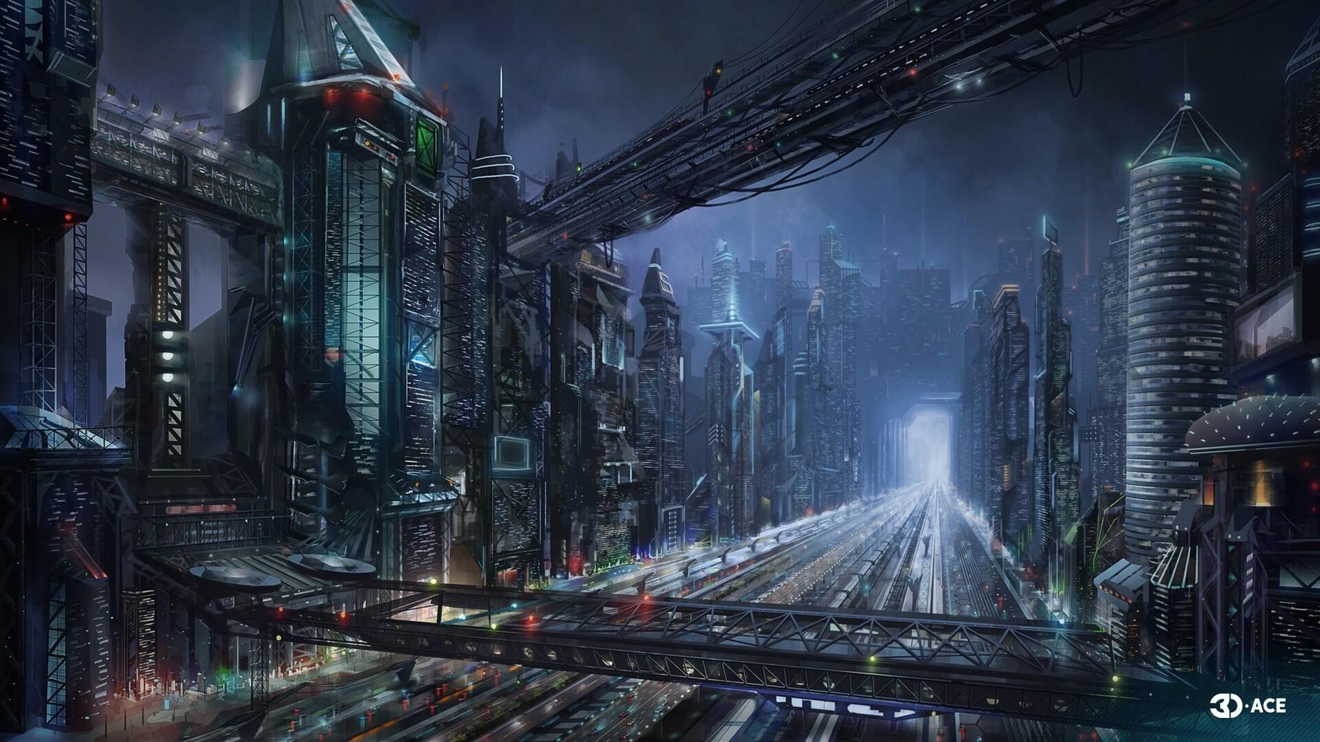 Cyberpunk City Art wallpaper for desktop