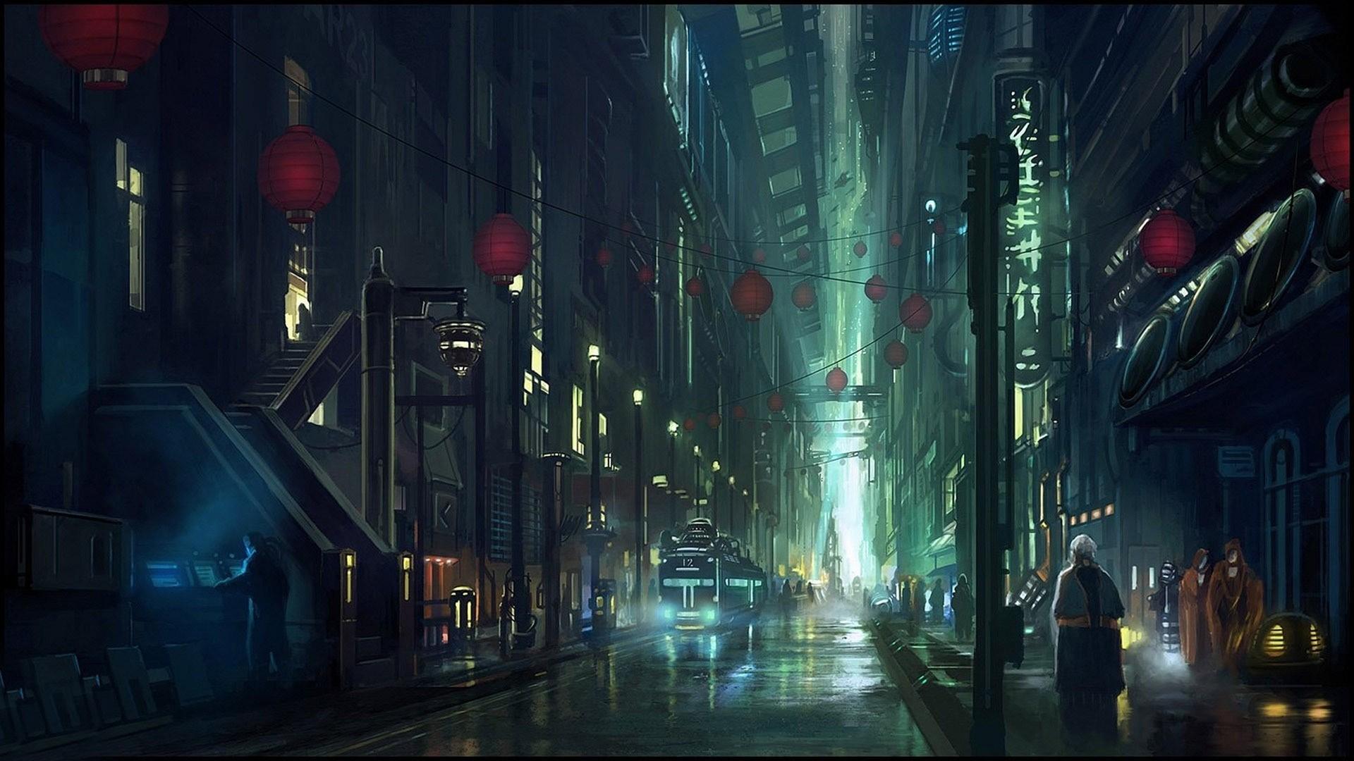 Cyberpunk City Art Wallpaper theme