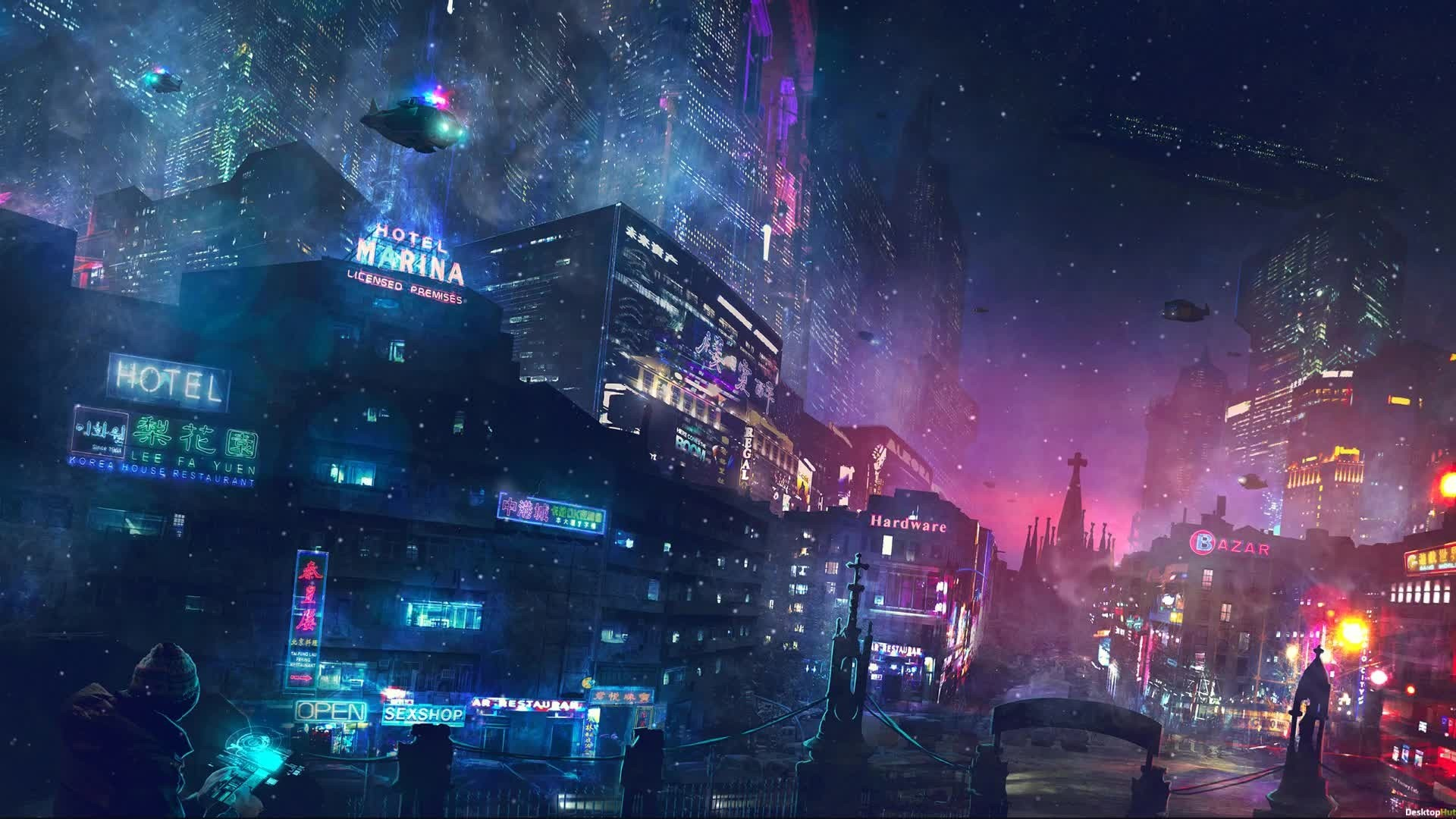 Cyberpunk City Art Image
