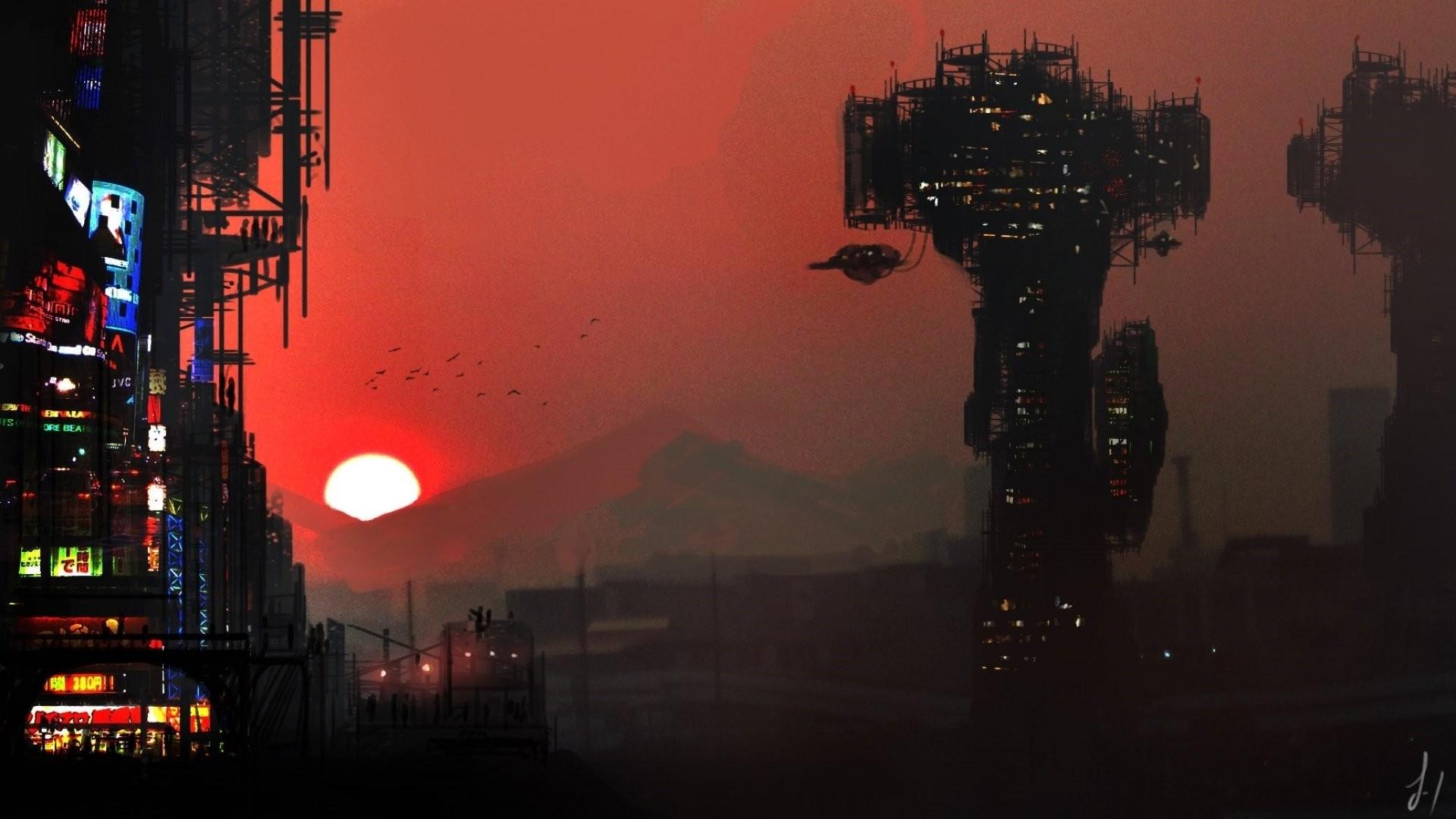 Cyberpunk City Art Pic