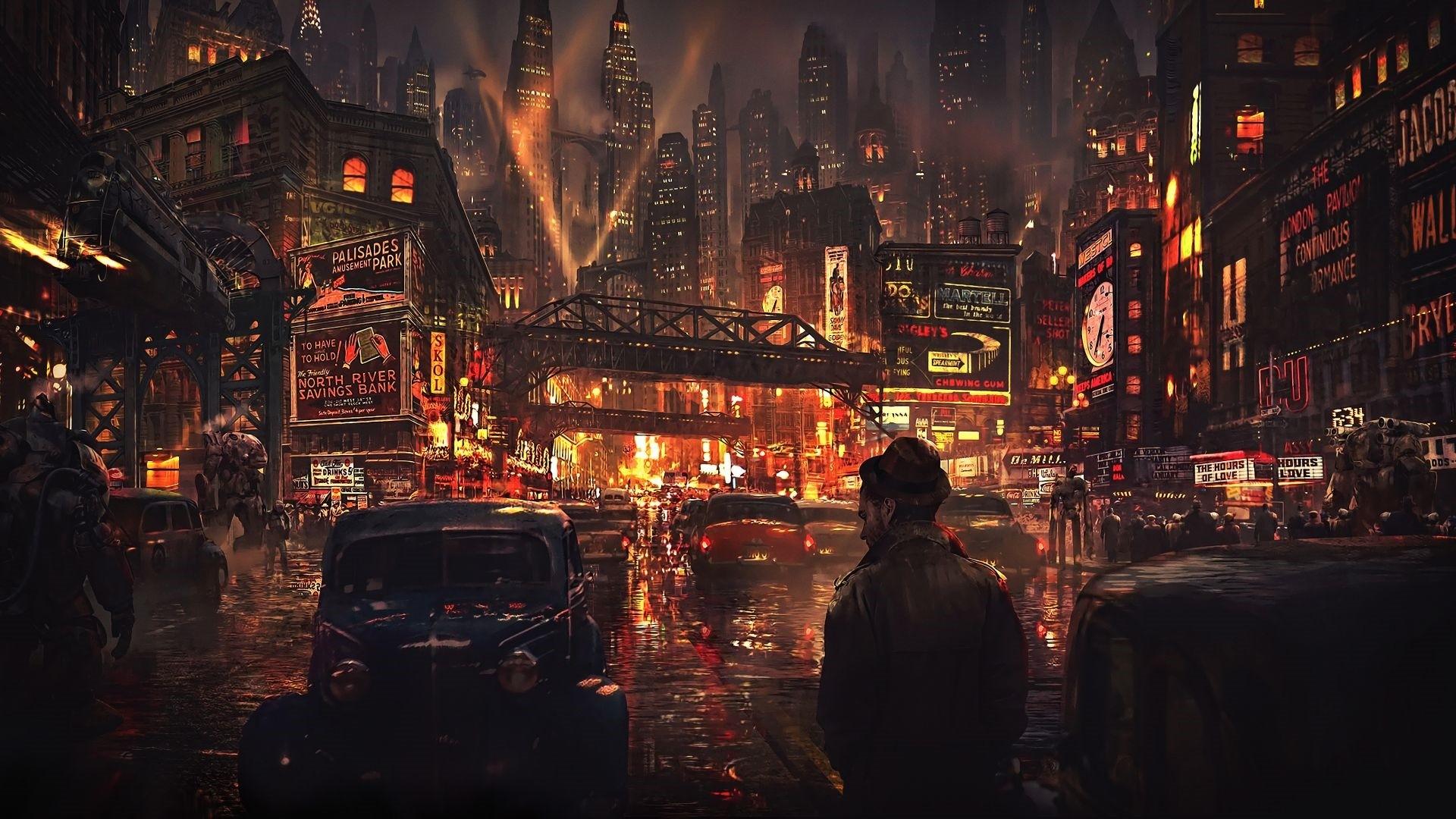 Cyberpunk City Art Wallpaper