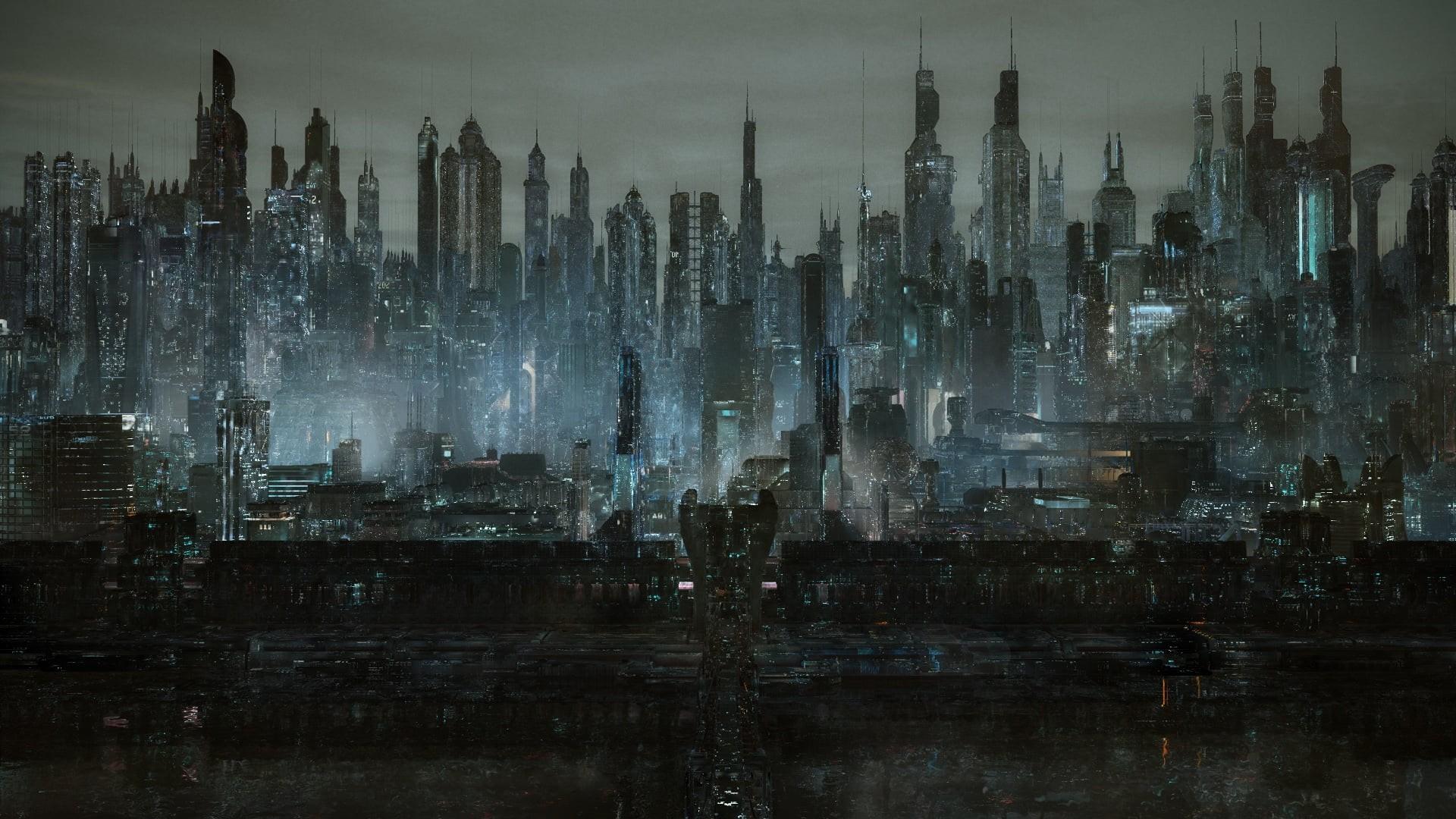 Cyberpunk City Art Picture