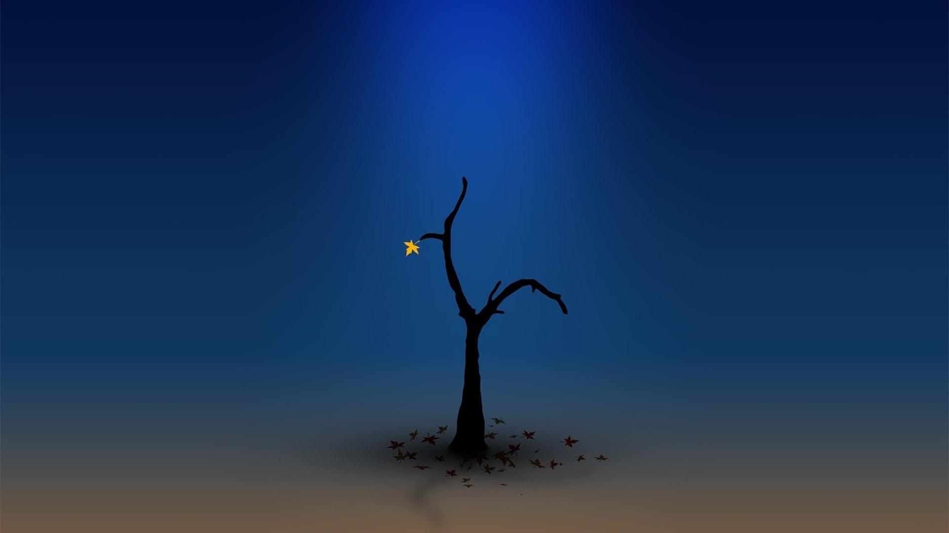 Lonely Trees Minimalist Pic