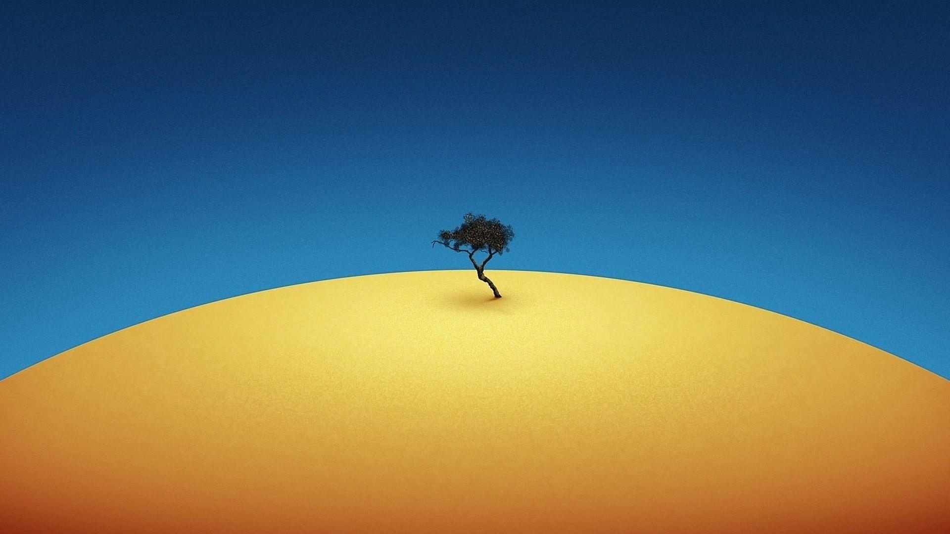 Lonely Trees Minimalist Desktop Wallpaper
