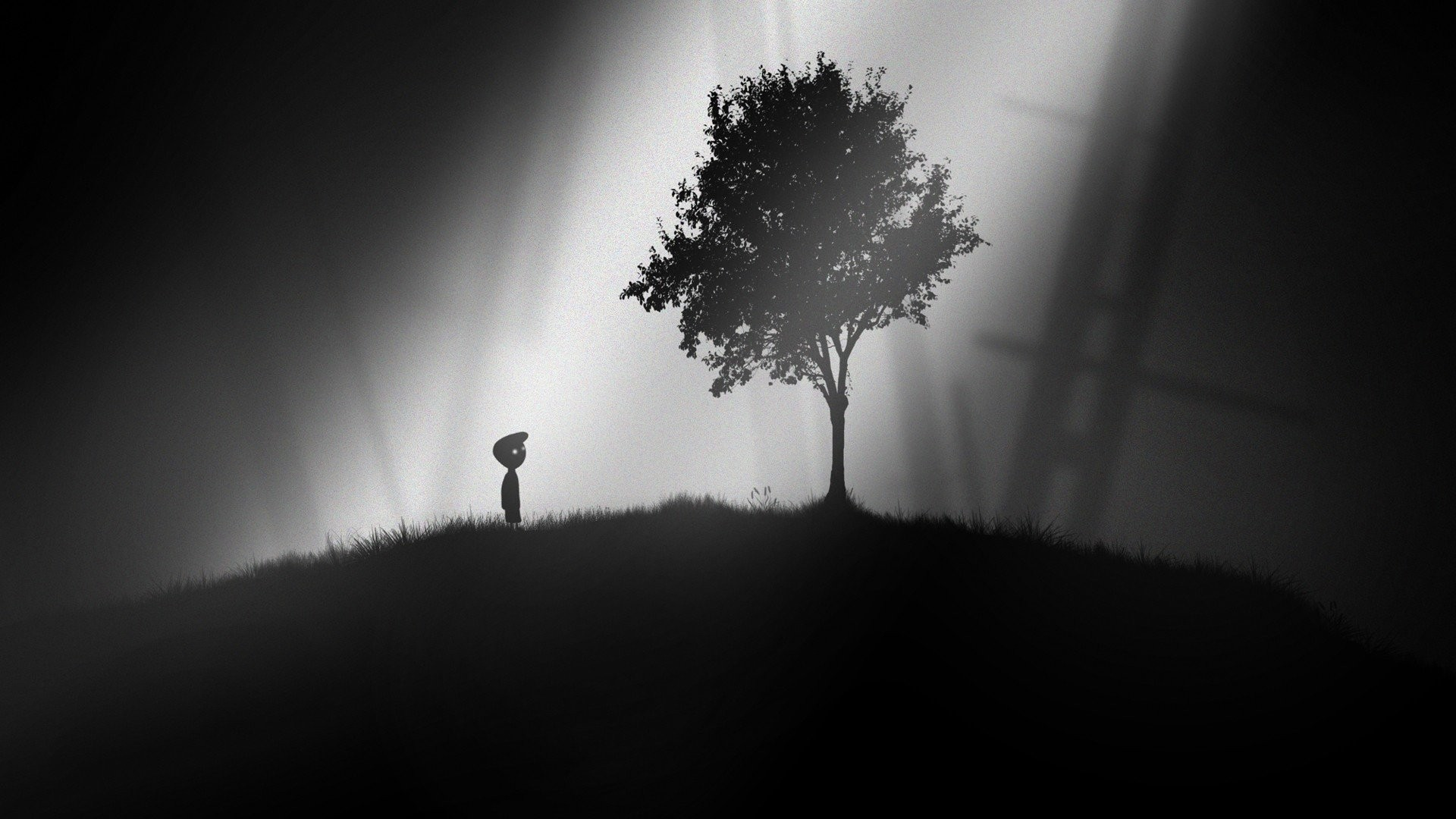 Lonely Trees Minimalist computer wallpaper